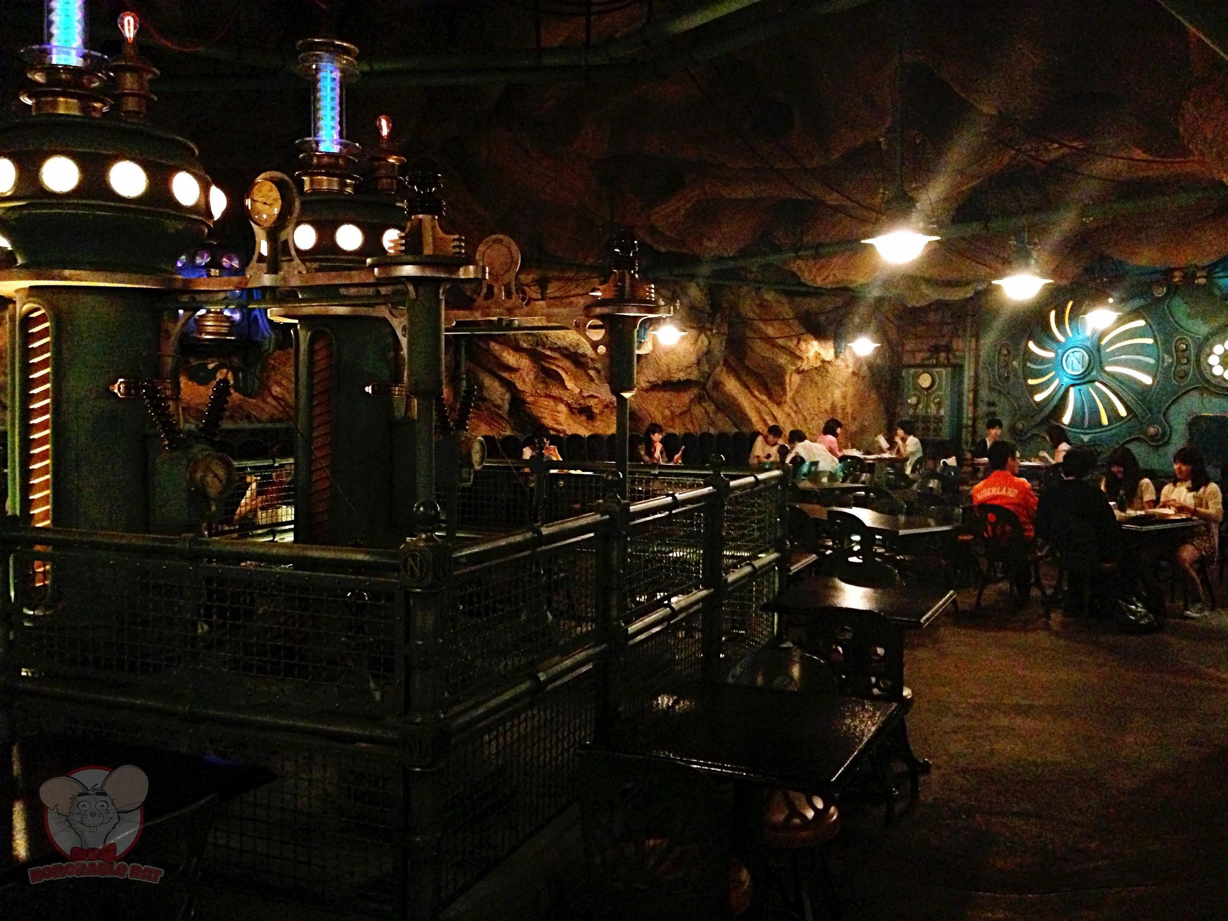 Inside Vulcania Restaurant