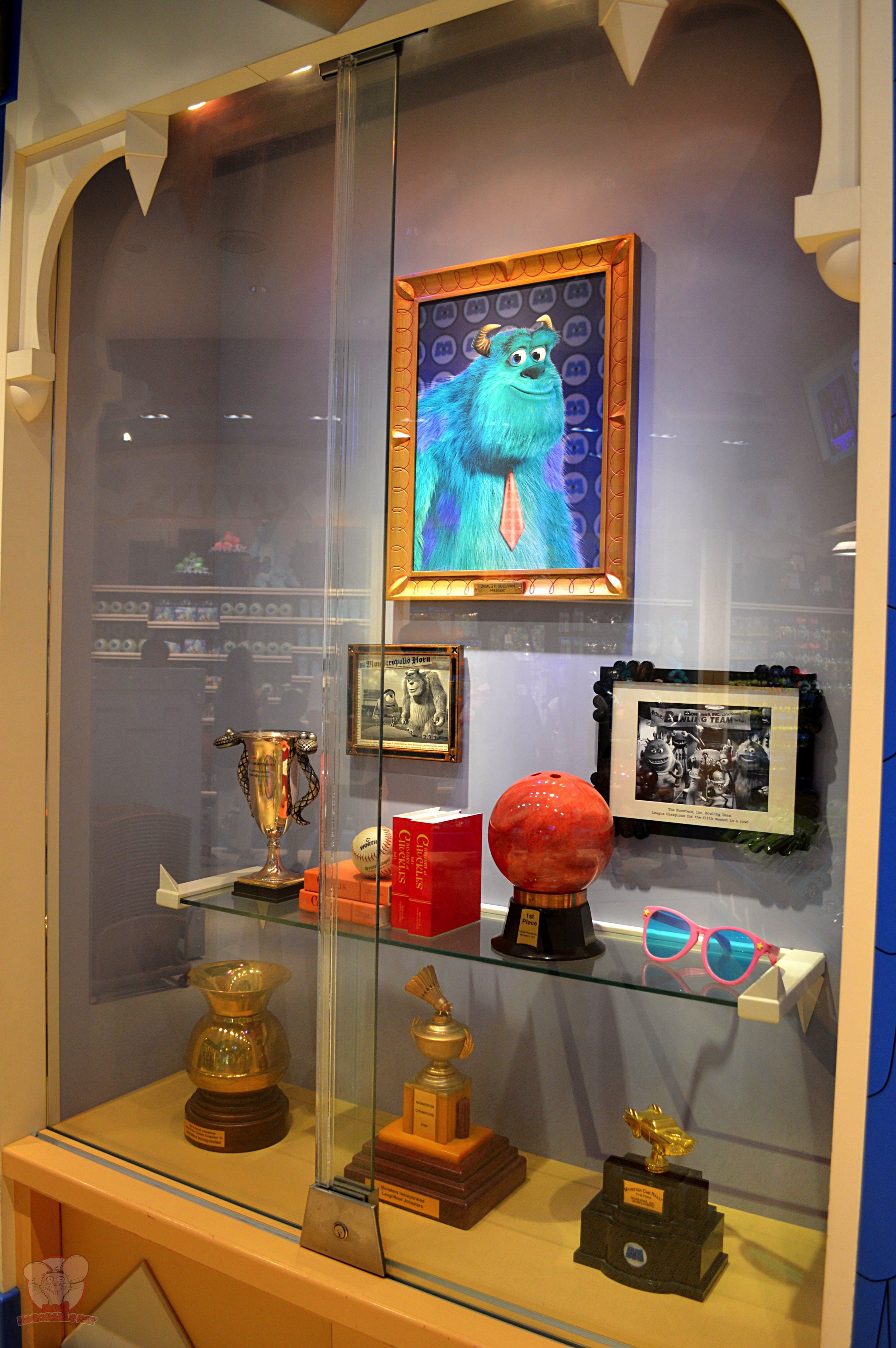 Sully's trophy case