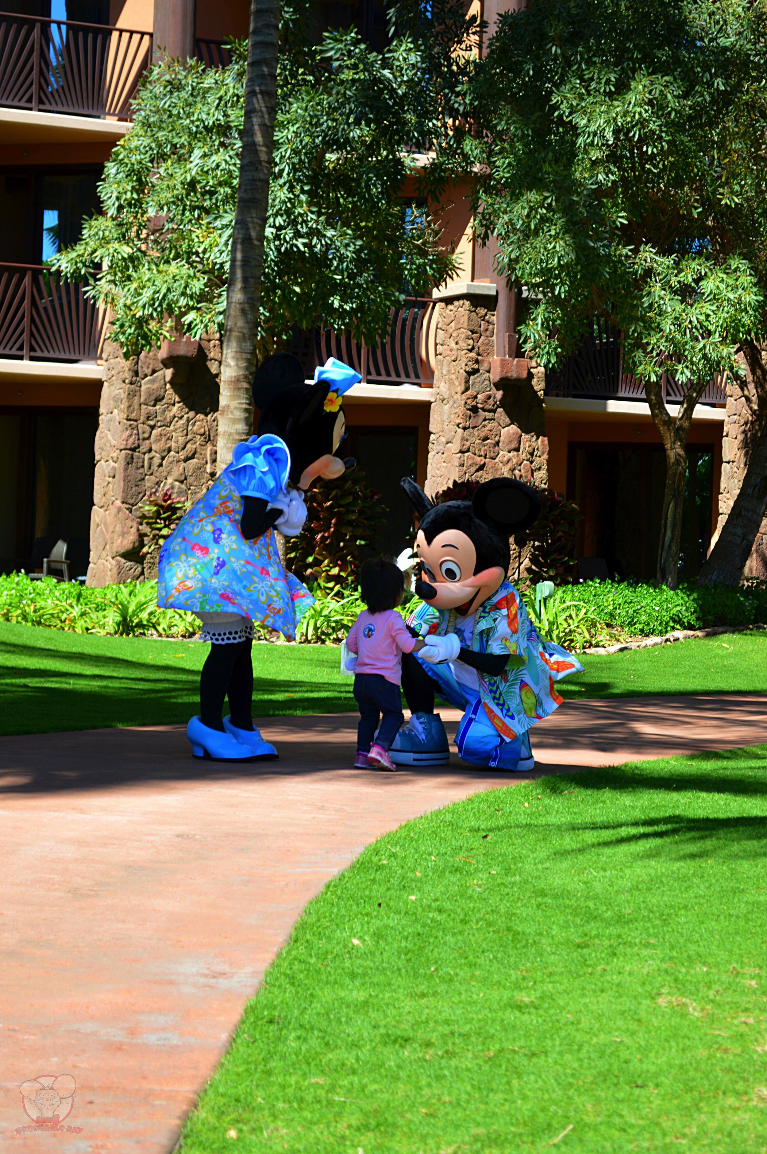 Telling Mickey that she will be back