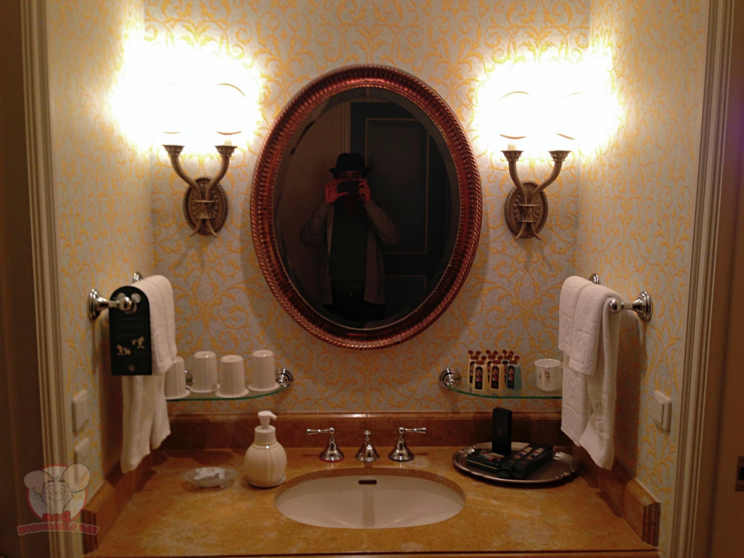 Sink area of the room