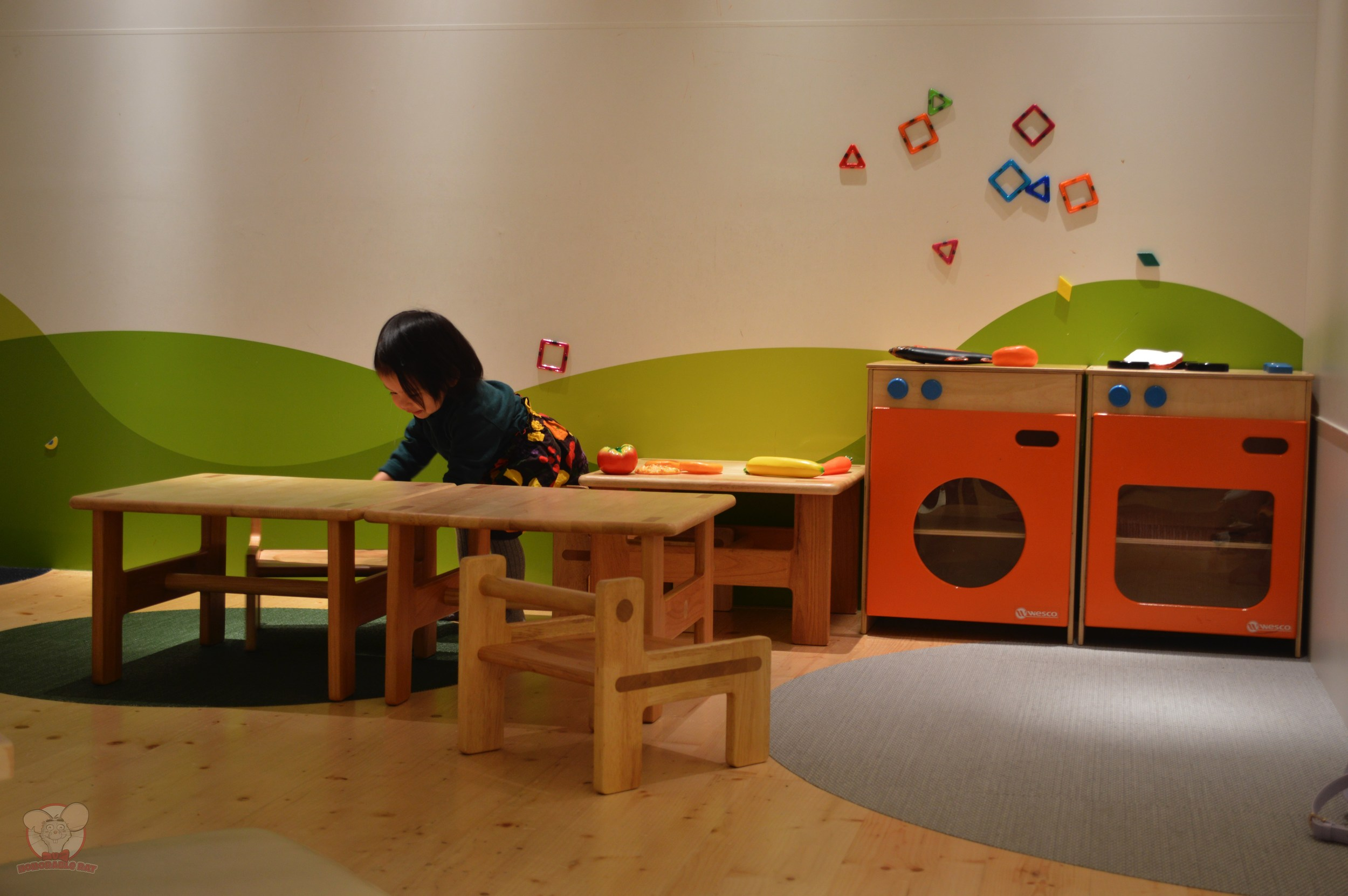 Little Mahina enjoying the Kids Space