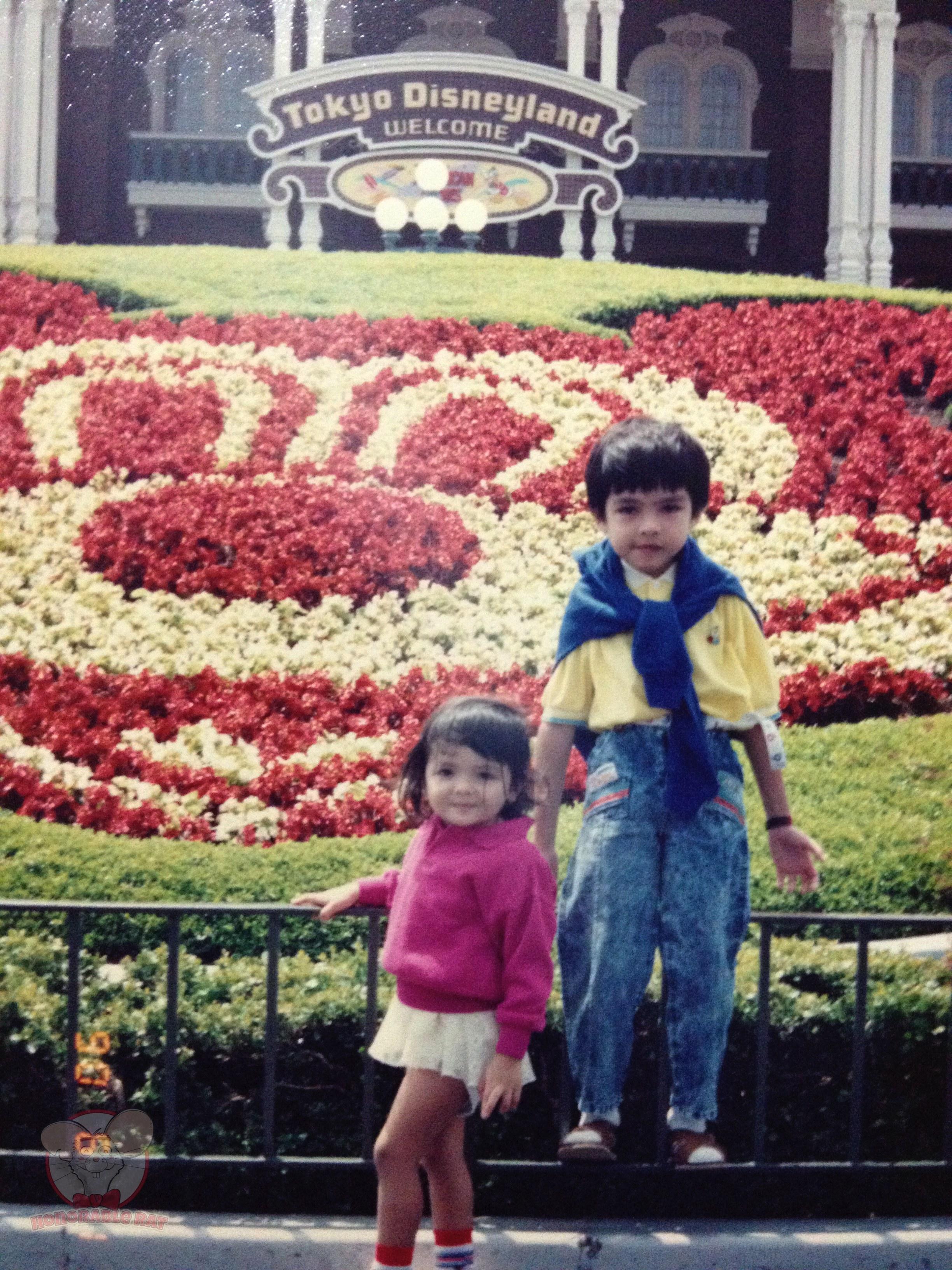 My sister, Natasha, and I at Tokyo Disneyland when we were kids