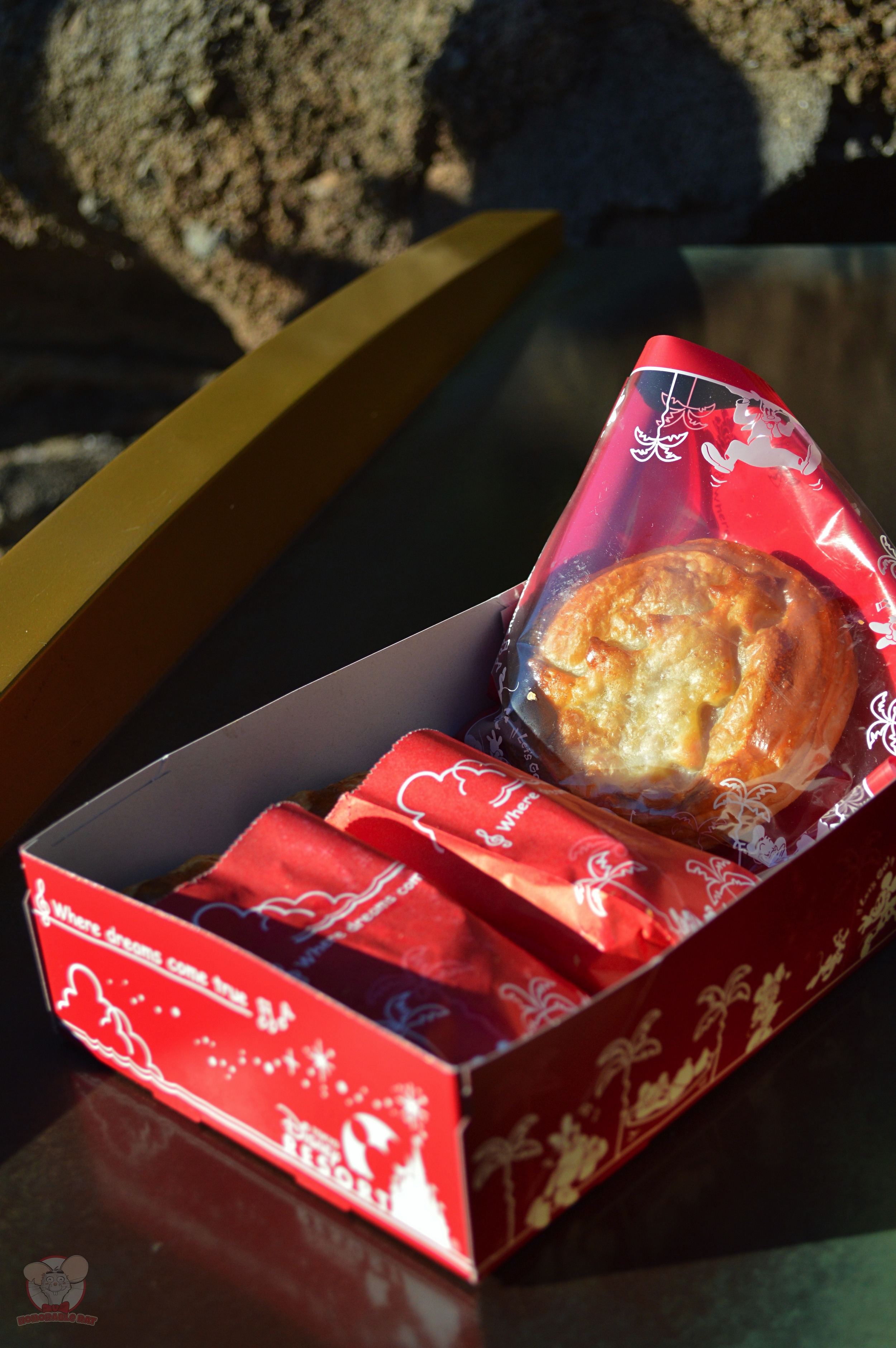 Meat Pies and Strawberry Custard Pastry