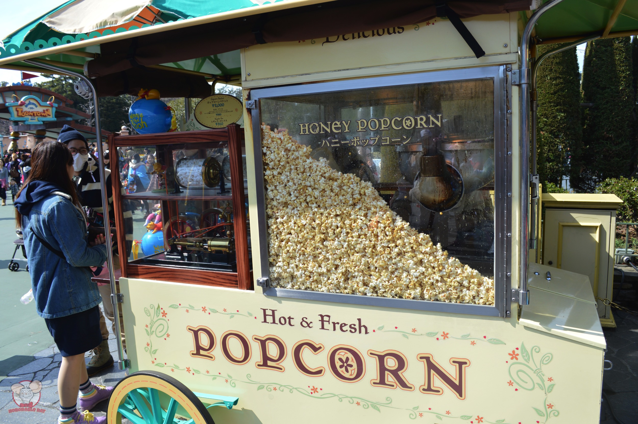Honey Popcorn Cart