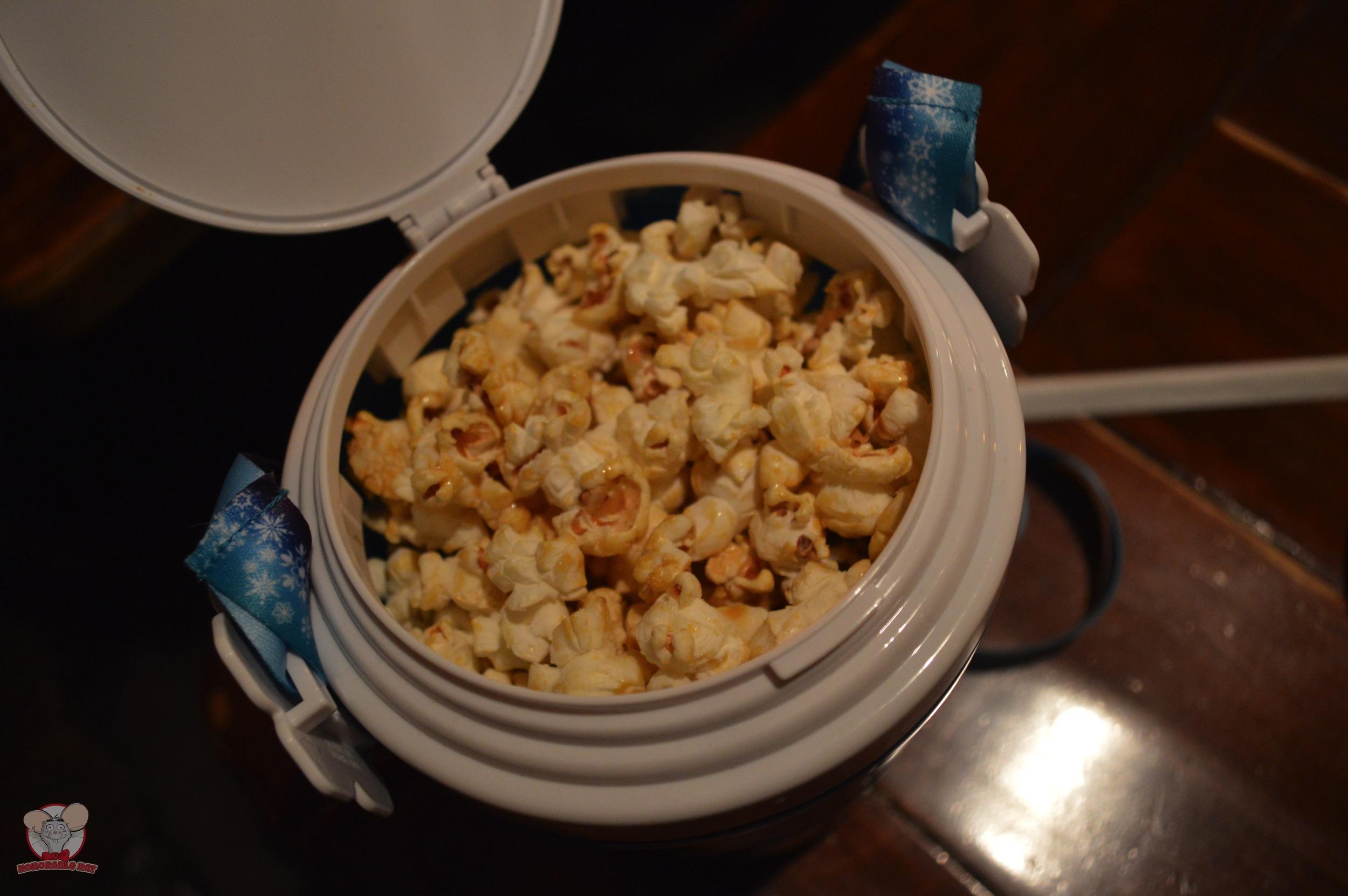 Honey Popcorn in a bucket
