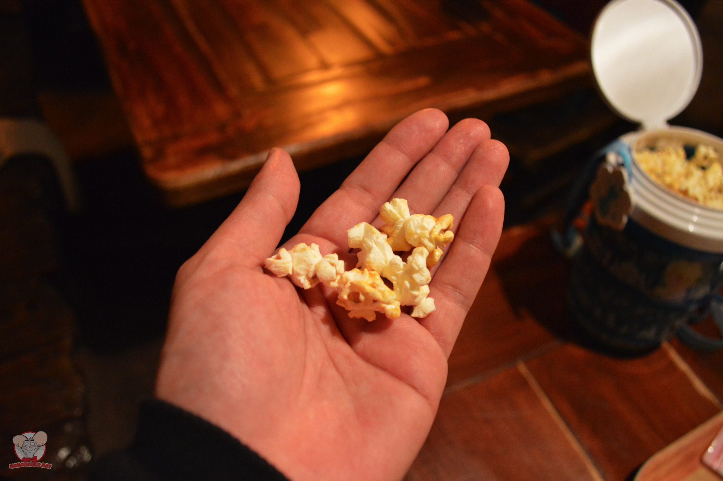 Honey Popcorn in my hand