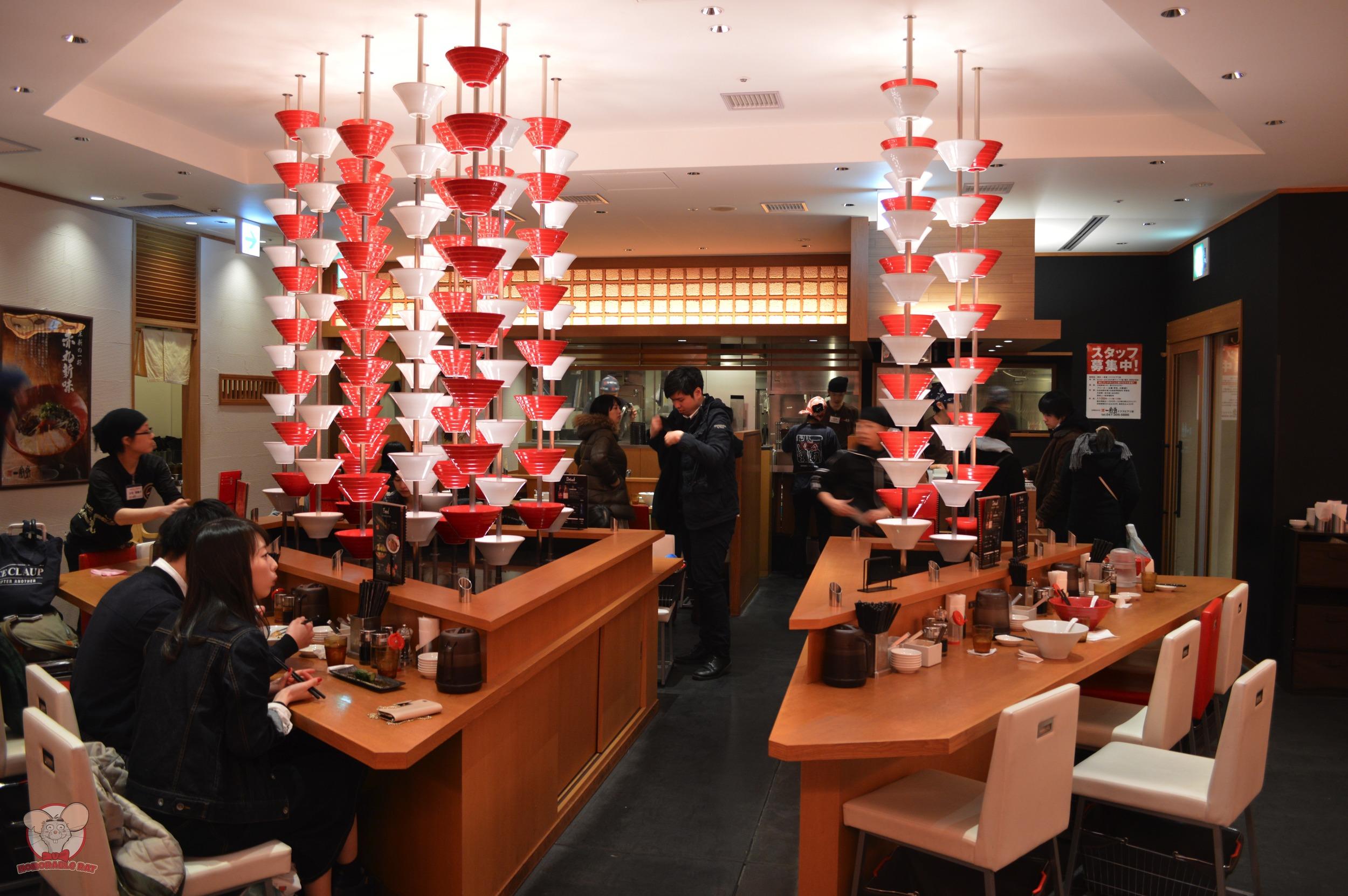 Ippudo Ramen seating arrangement