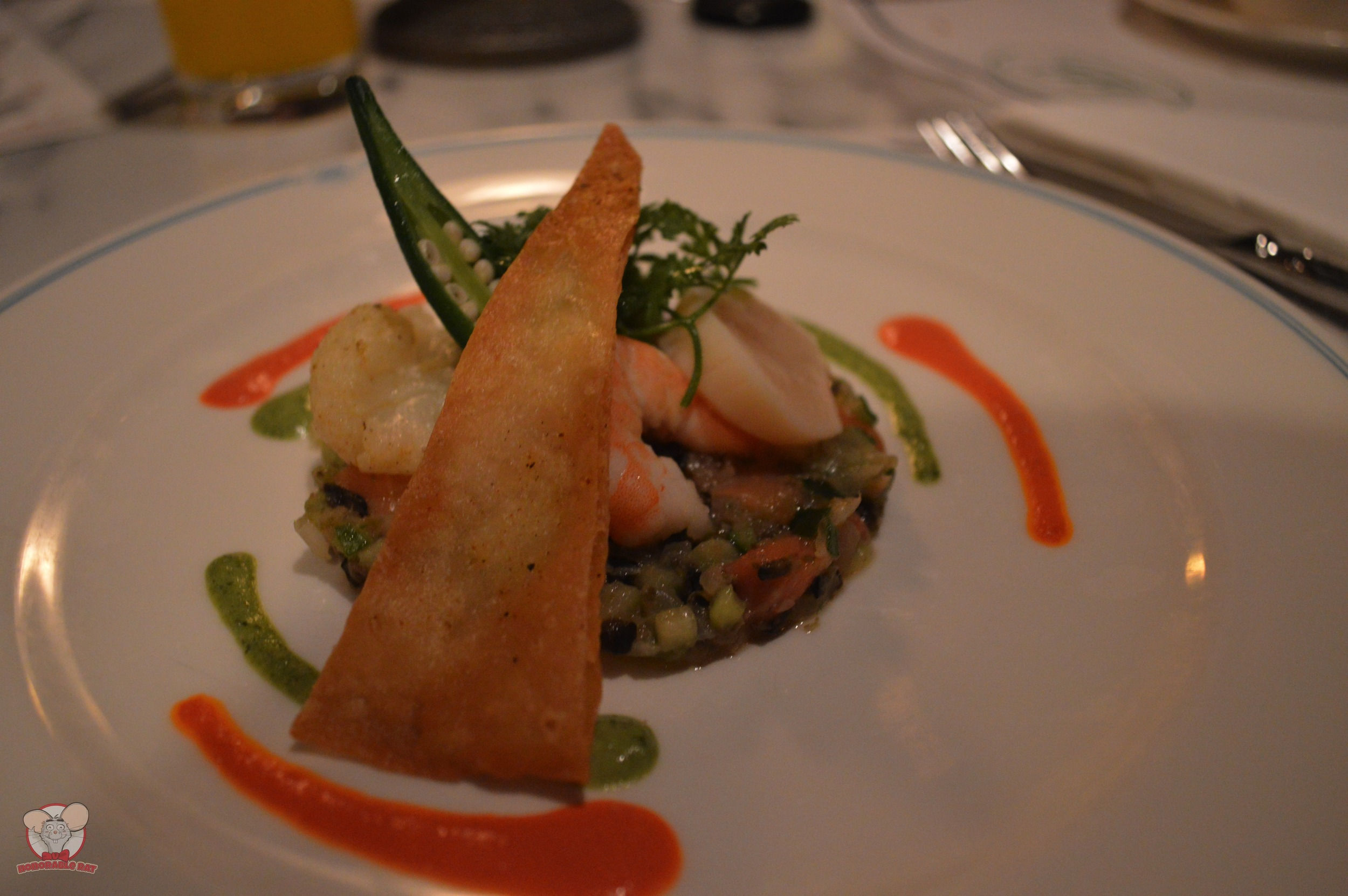 Salmon Trout Tartare with Marinated Shrimp and Scallop (Christmas Fantasy 2014 Special Course)
