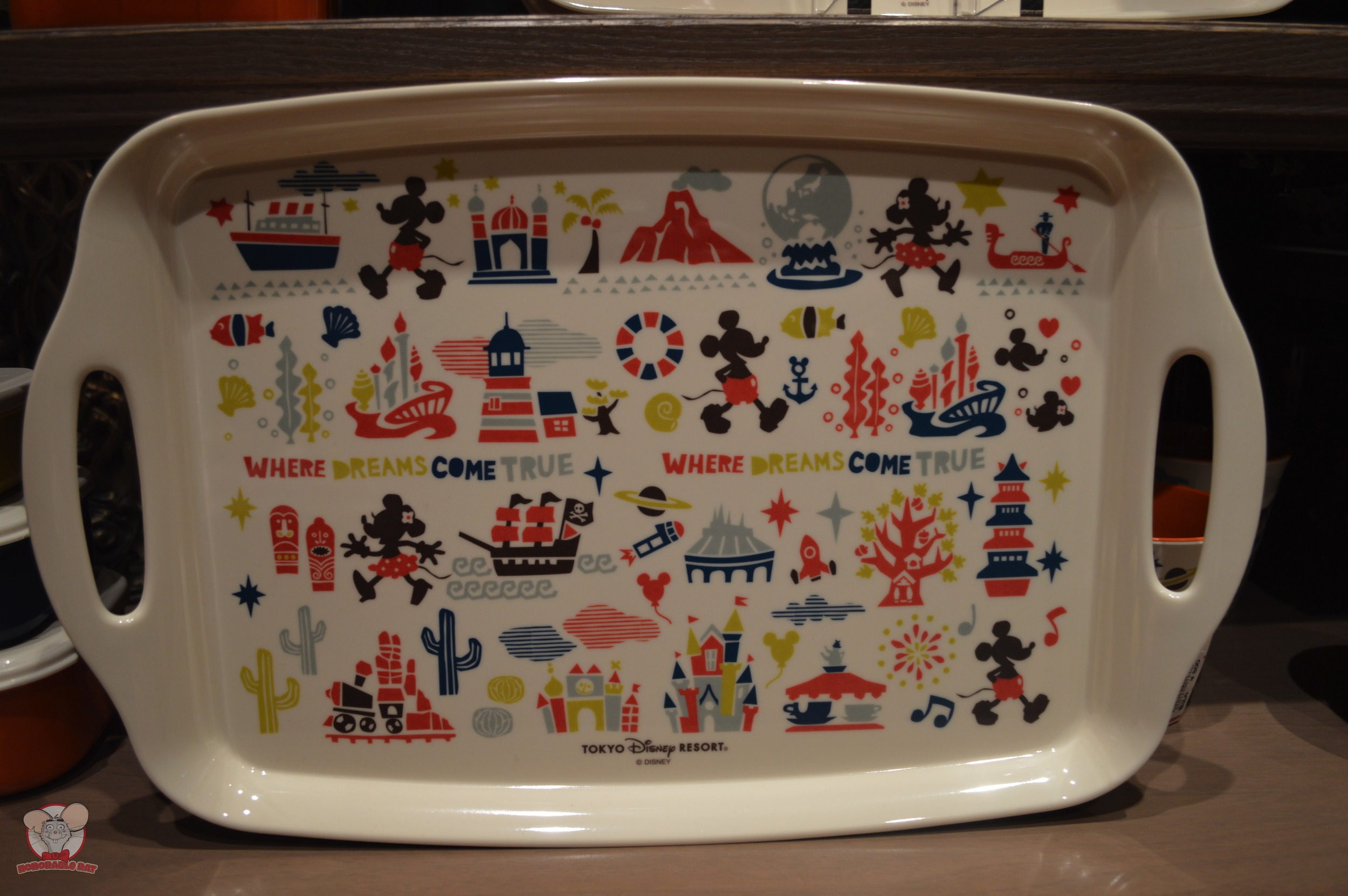 Tokyo Disney Resort Tray: 1,700 yen