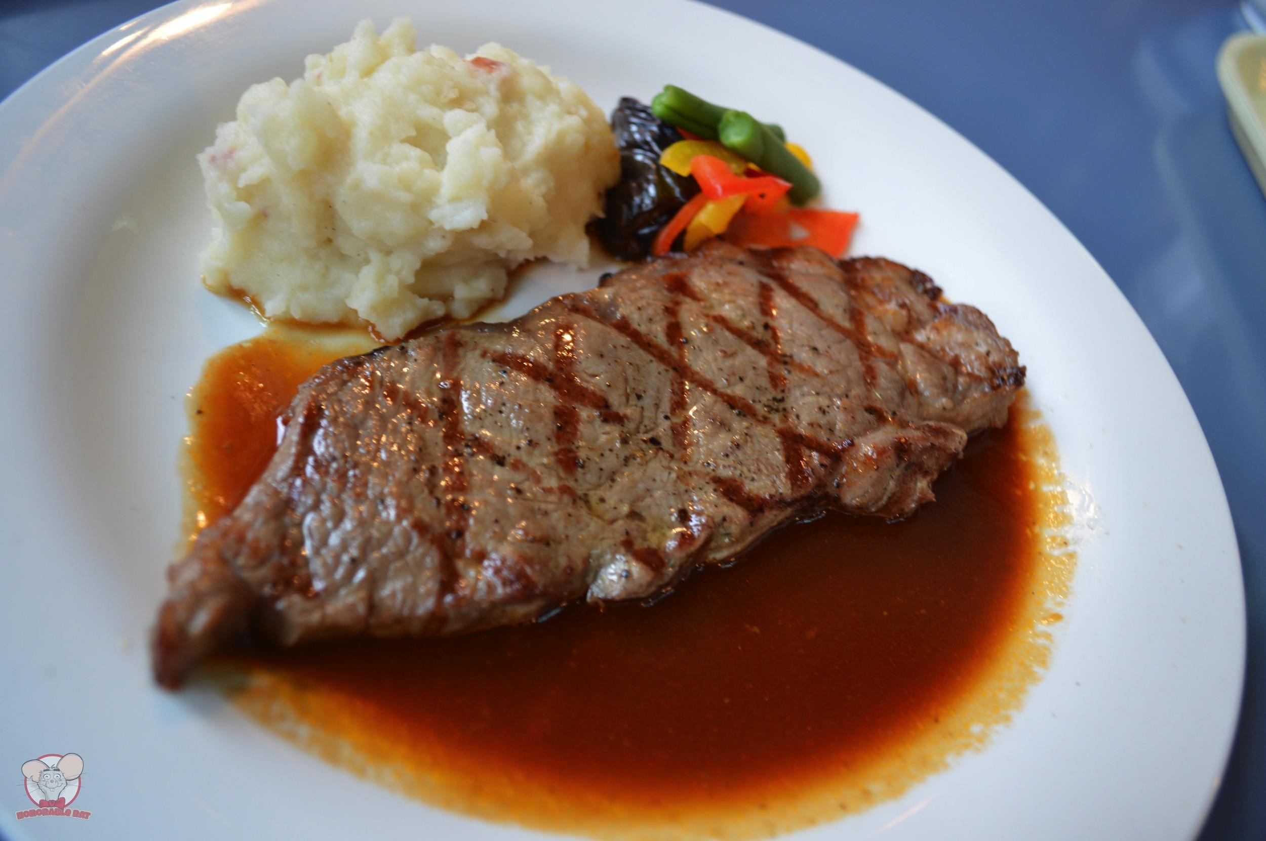 Grilled Beef Steak with Gravy (Yuzu Flavor)