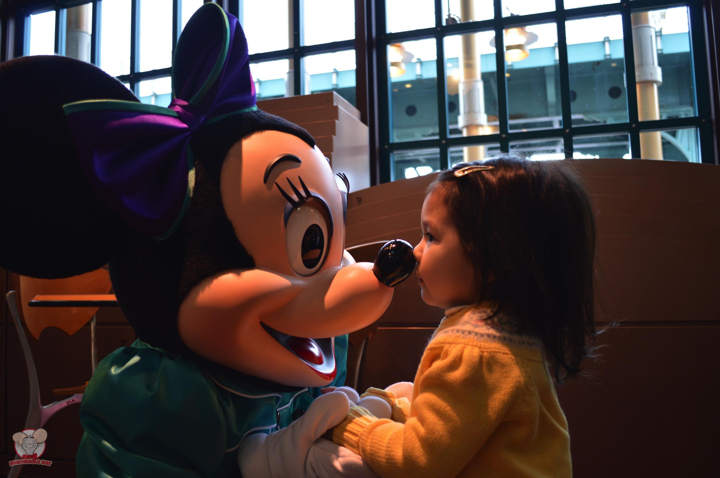 Mahina with Minnie Mouse