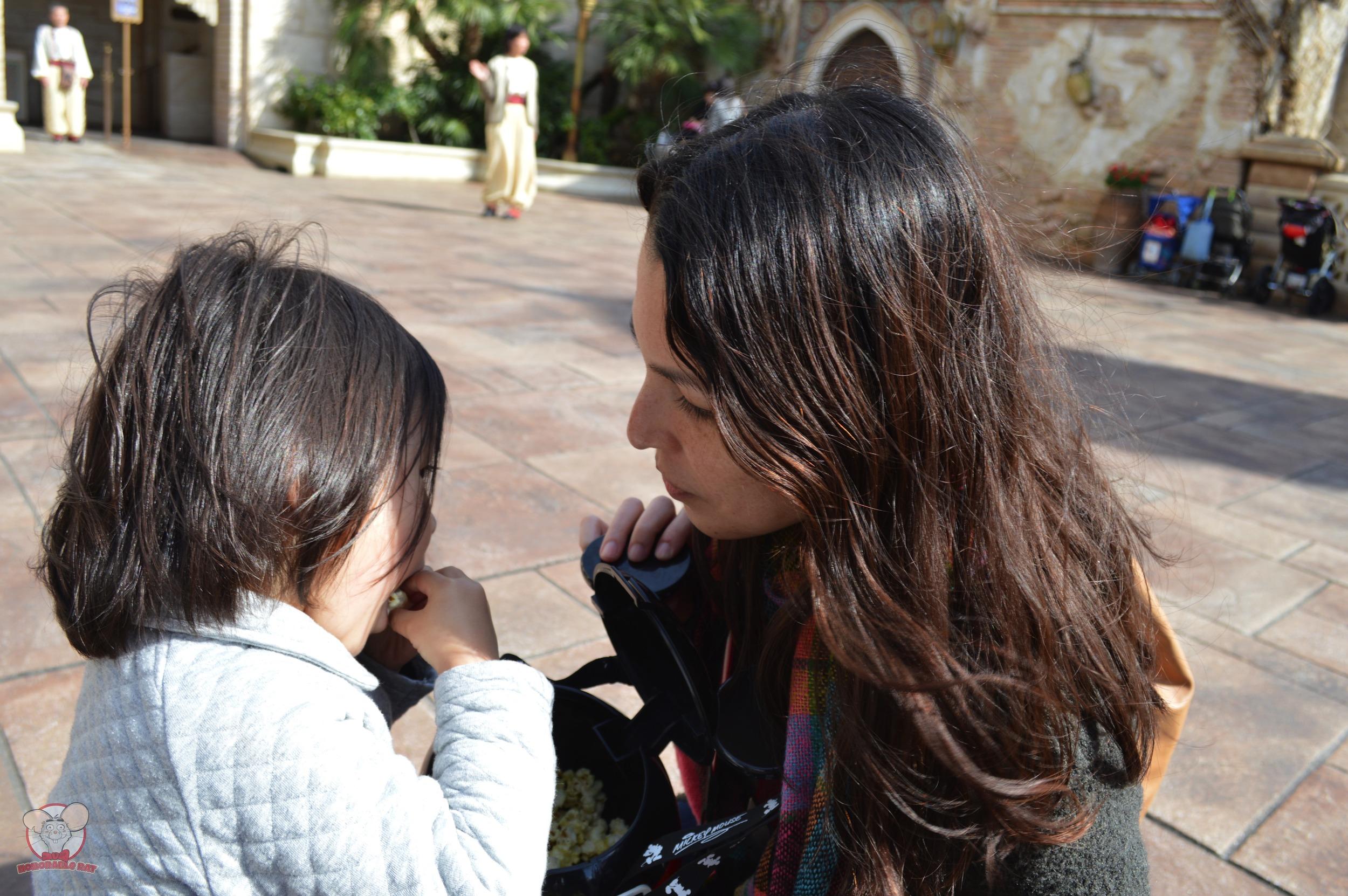 Nadia feeding Mahina
