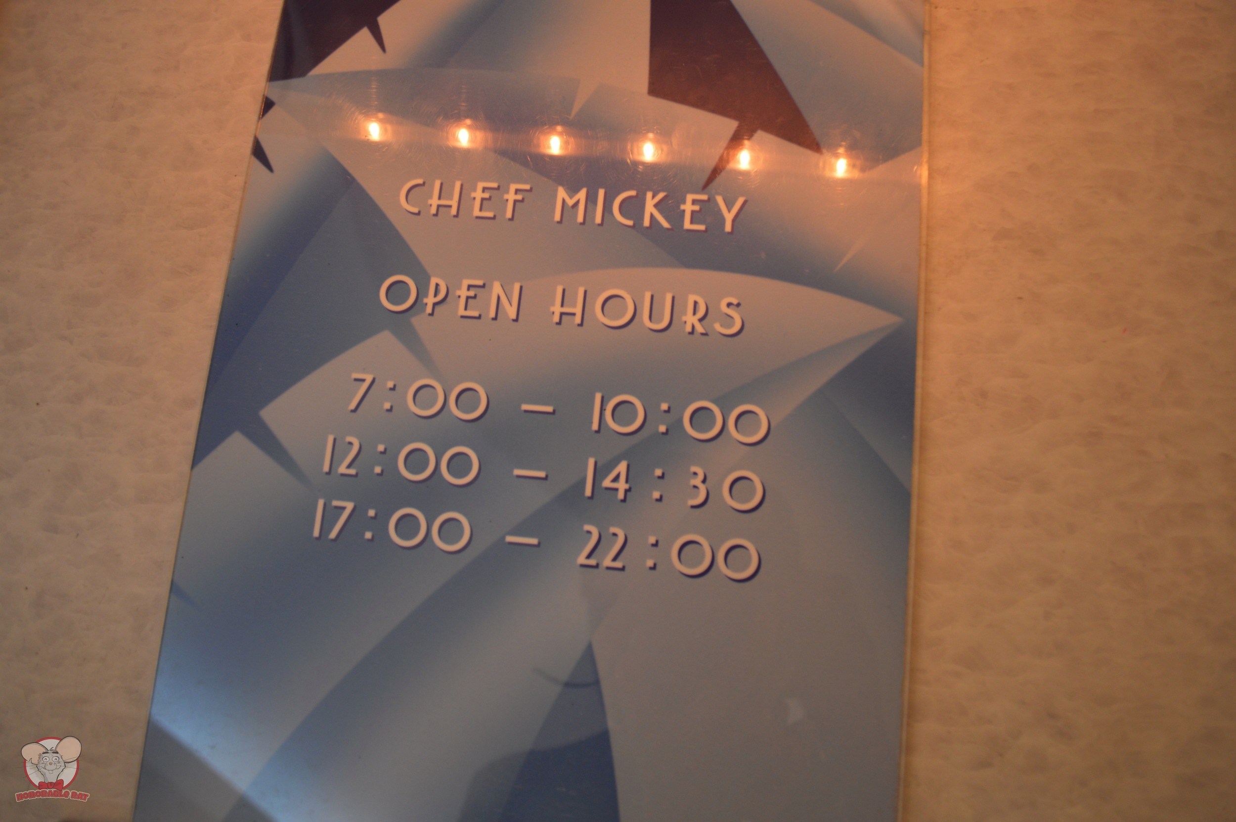 Chef Mickey Opening Hours