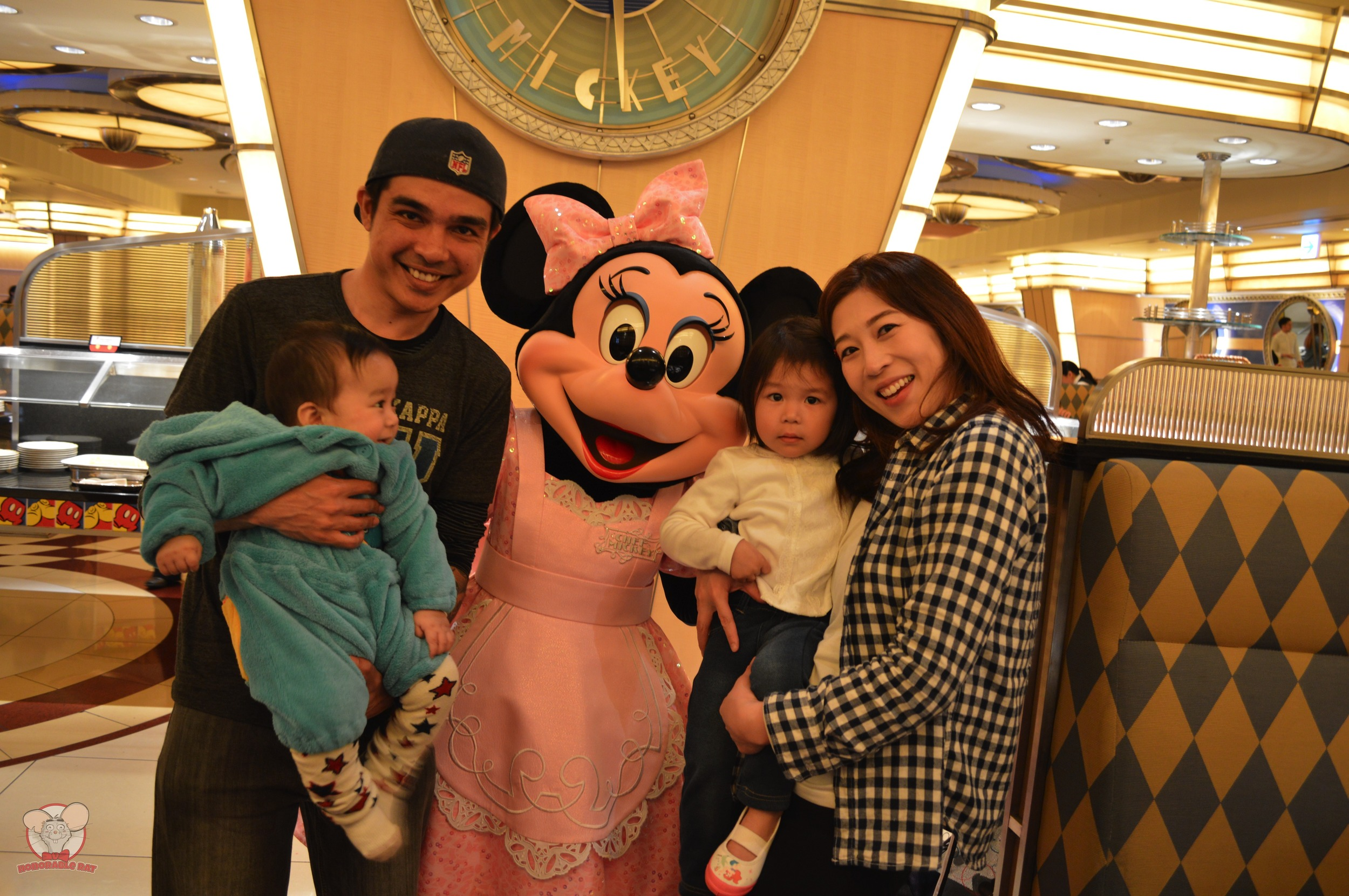 The Kaneko Shahs with Minnie Mouse