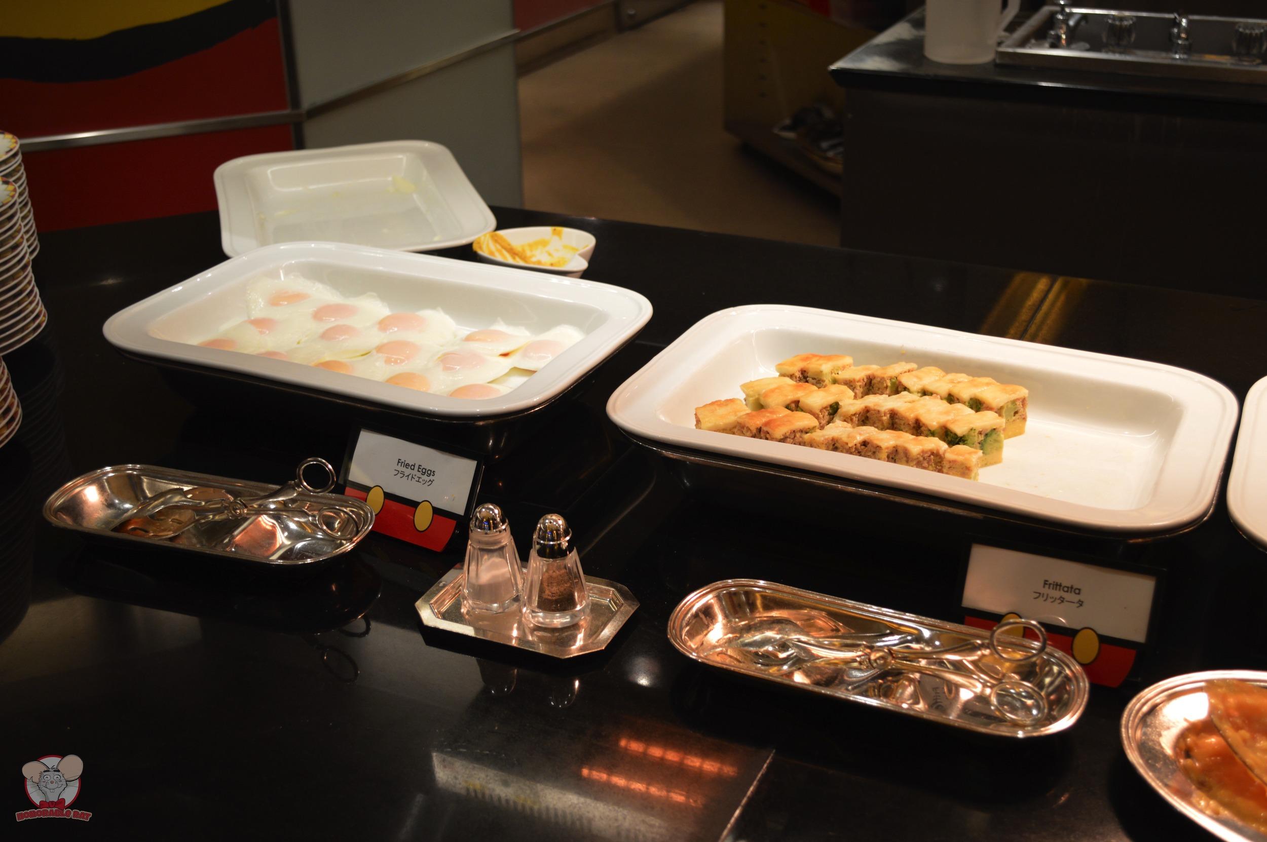Fried Eggs (Left) Frittata (Right)