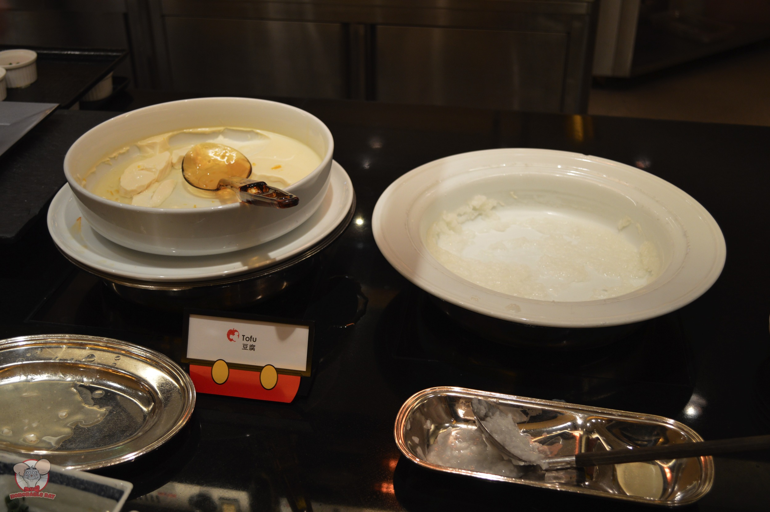 Tofu (Left) Porridge (Right)