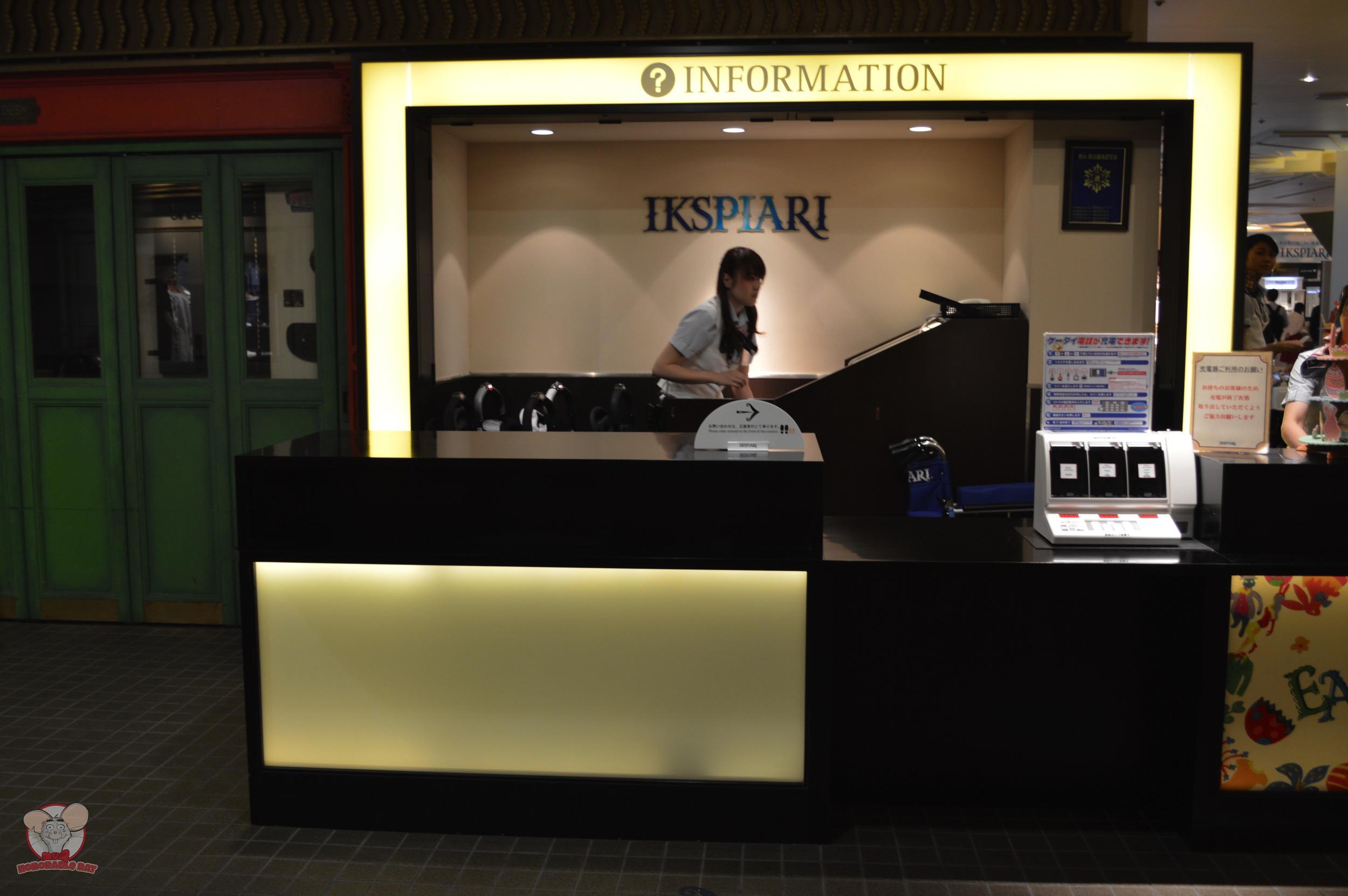 Phone Charging Station at Ikspiari Information Counter