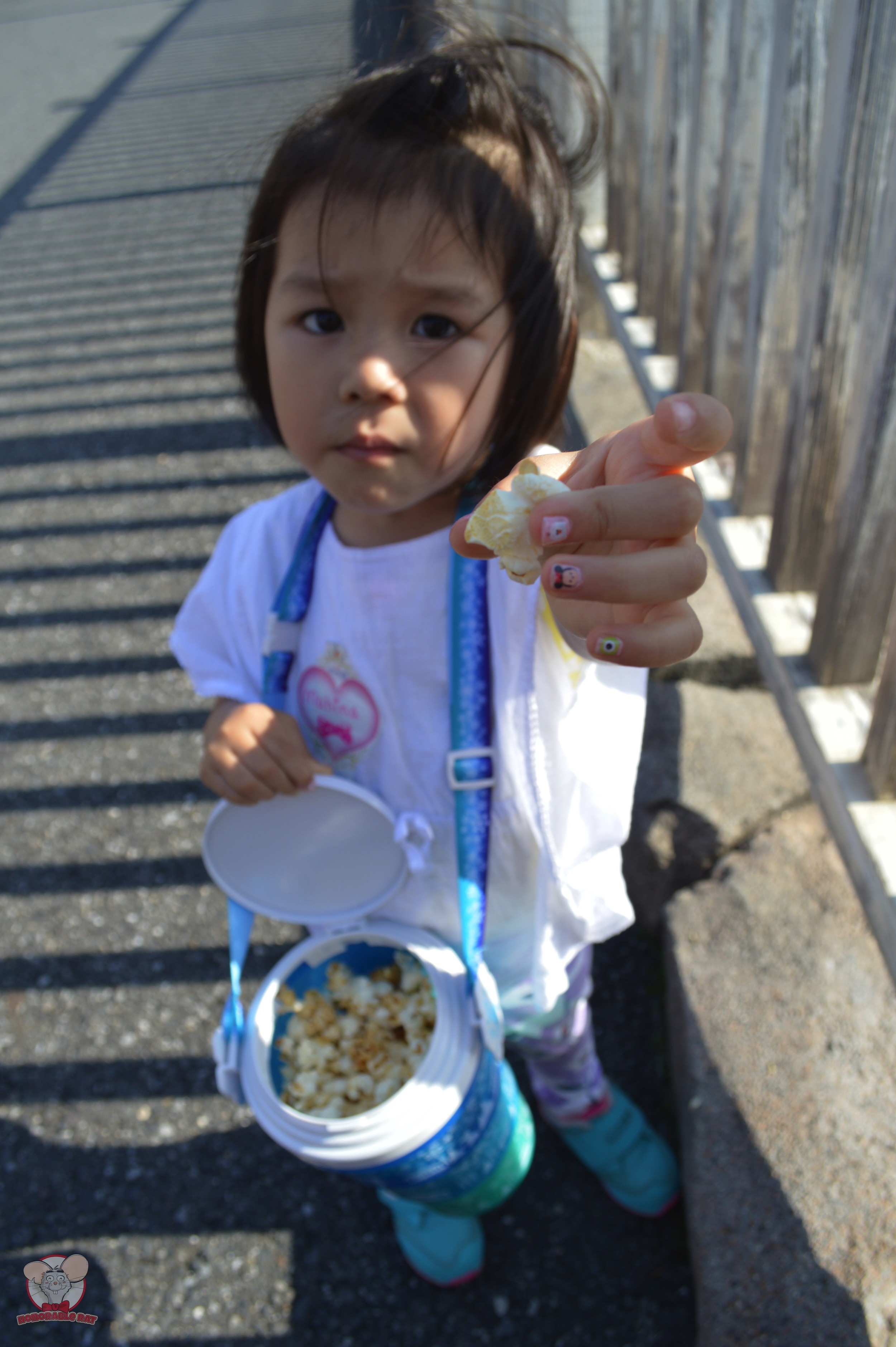 Little Mahina sharing her super power with you