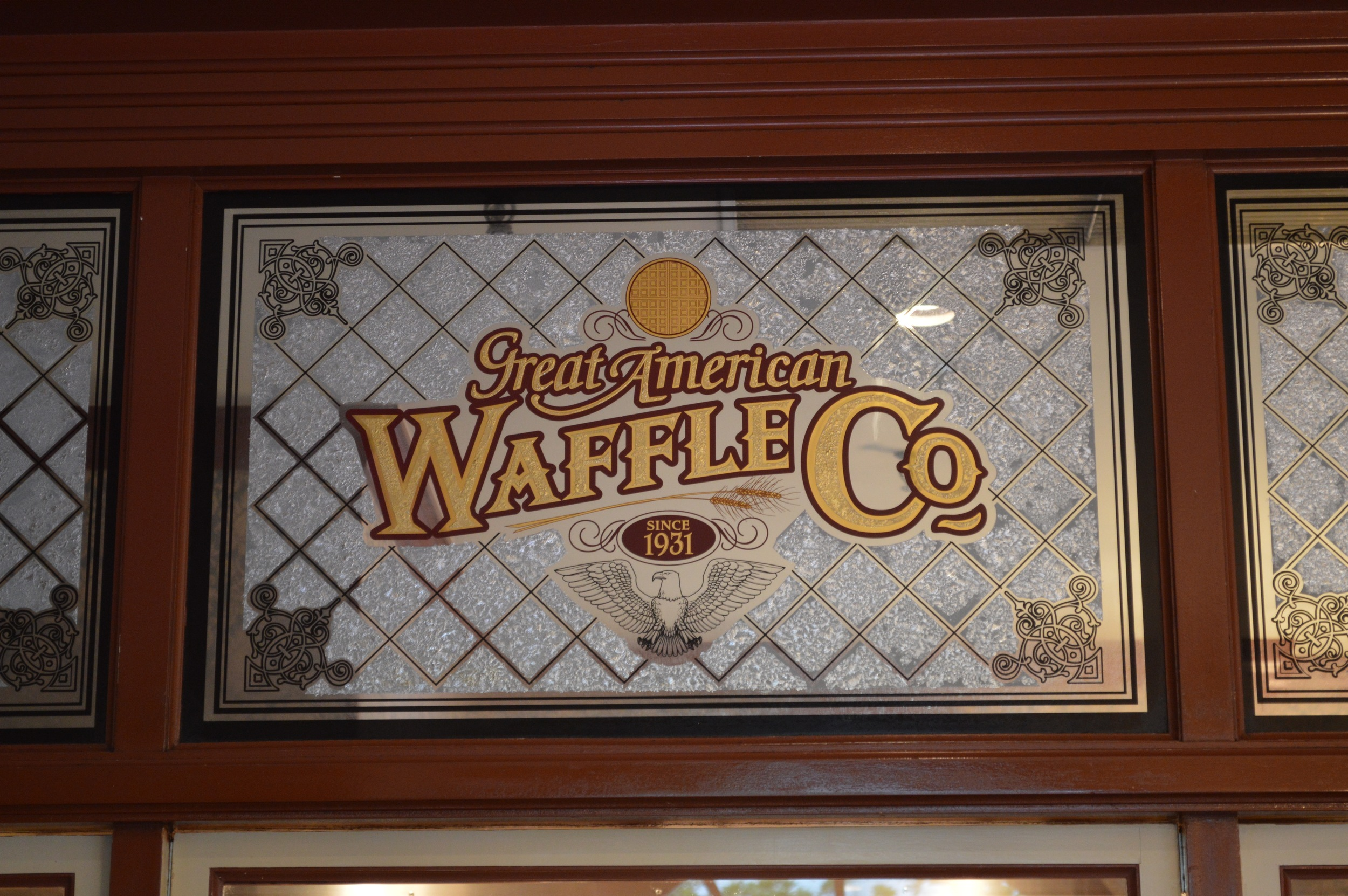 Great American Waffle Company Stained Glass