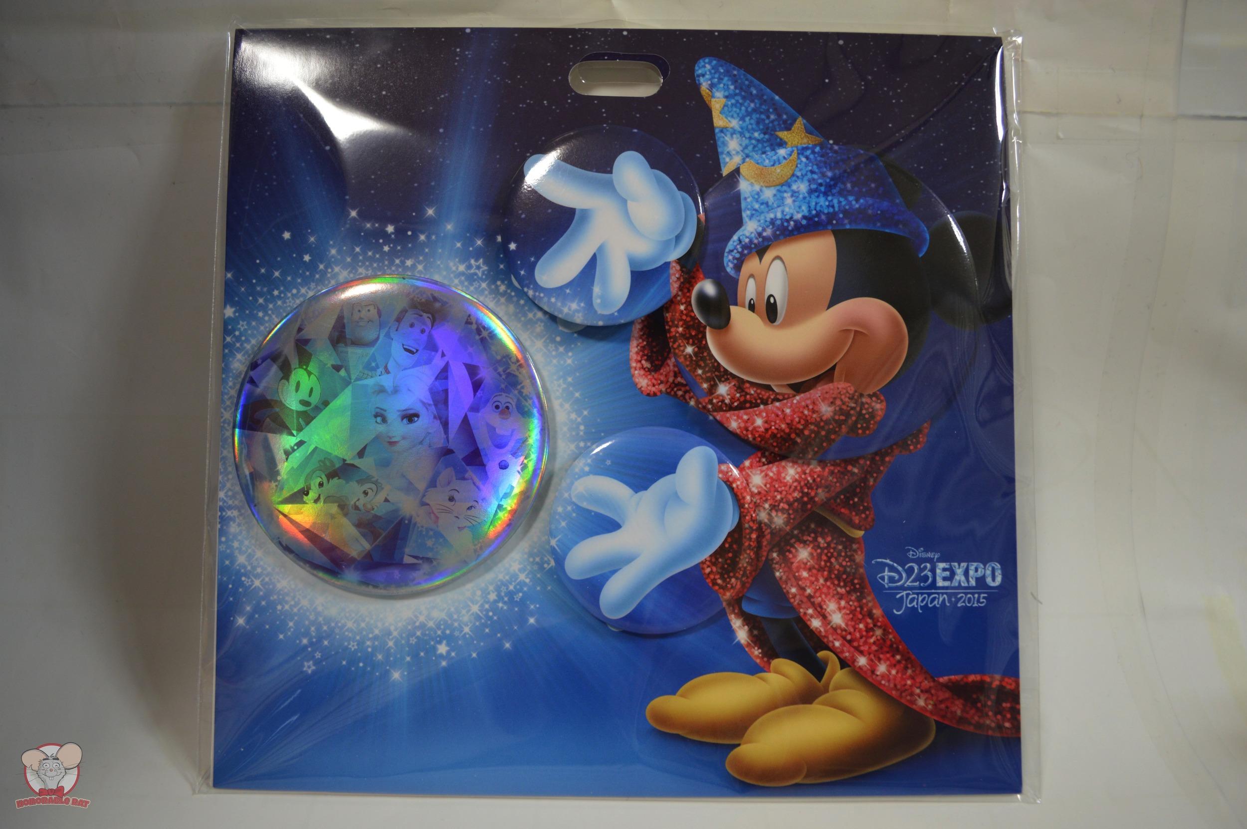 D23 Expo Japan 2015 Set of 4 Button Badges