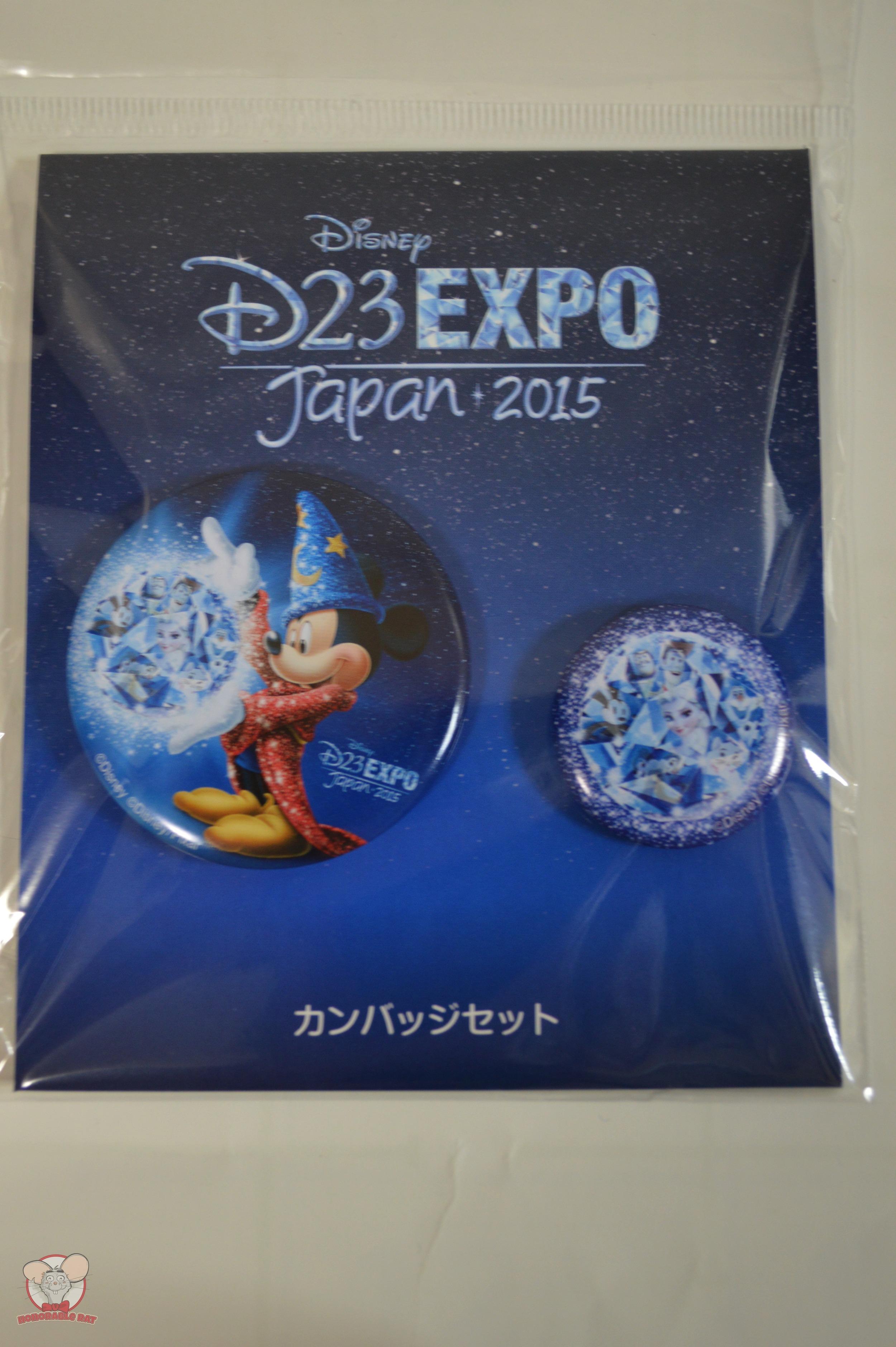 D23 Expo Japan 2015 Set of 2 Button Badges