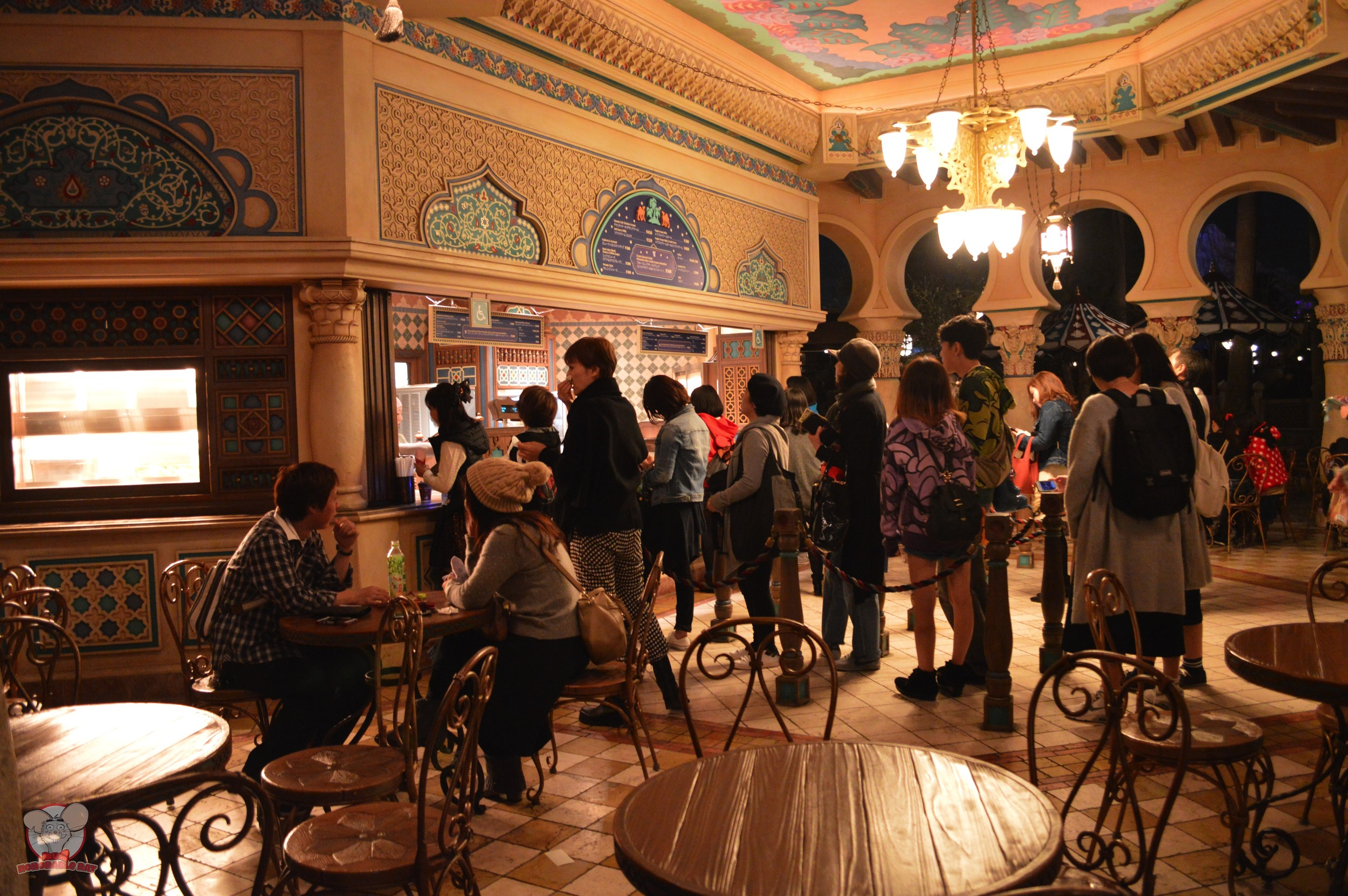 Sultan's Oasis's seating and line