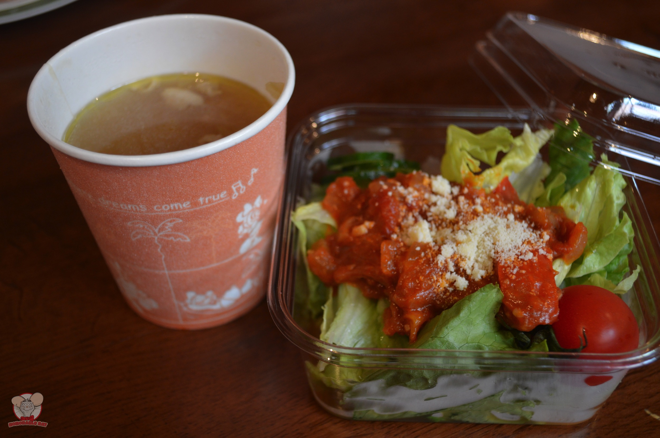 Ratatouille Salad and a cup of Hearty Chicken & Vegetable Soup