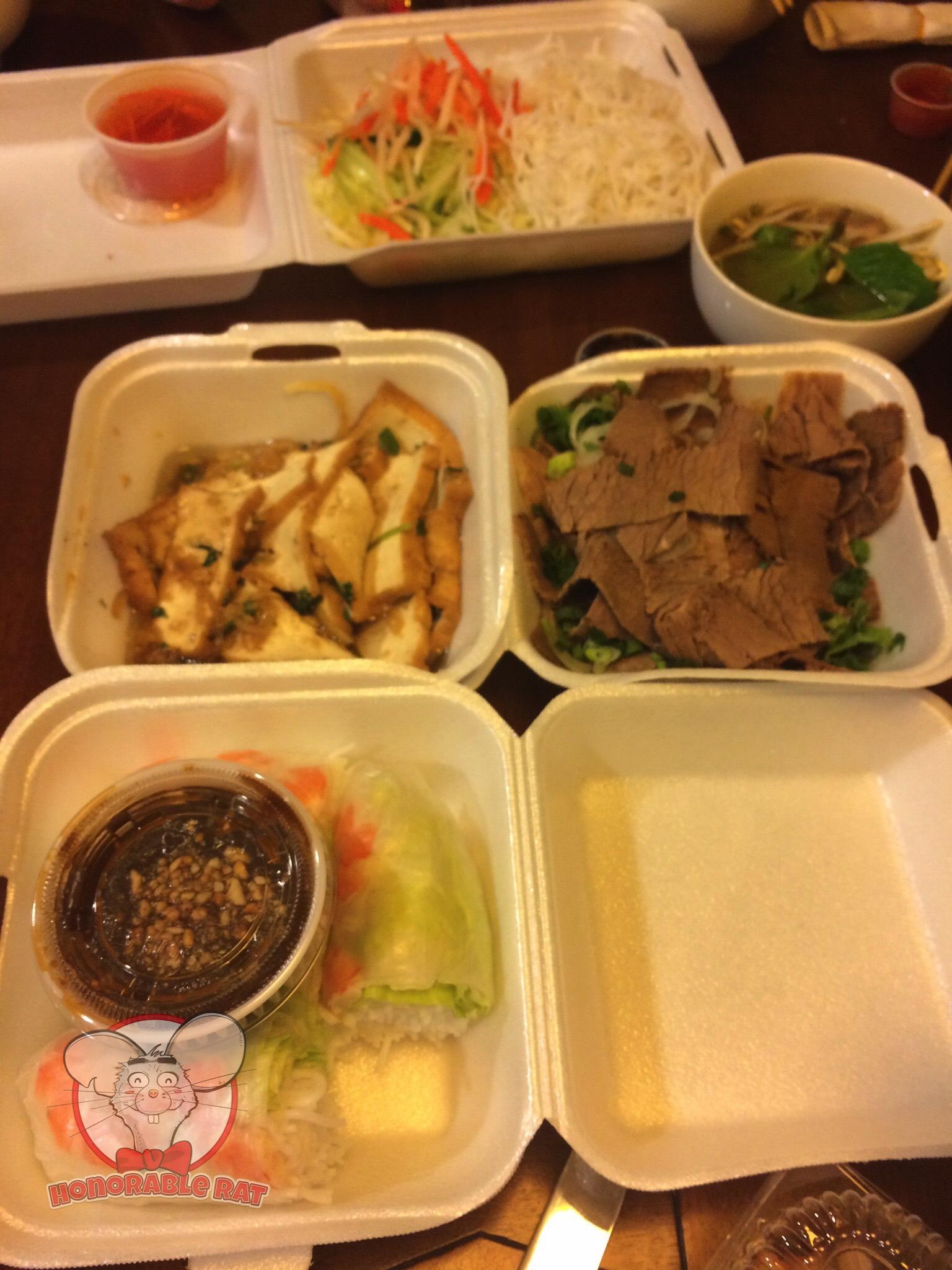 Summer Rolls, Tofu & Beef Brisket