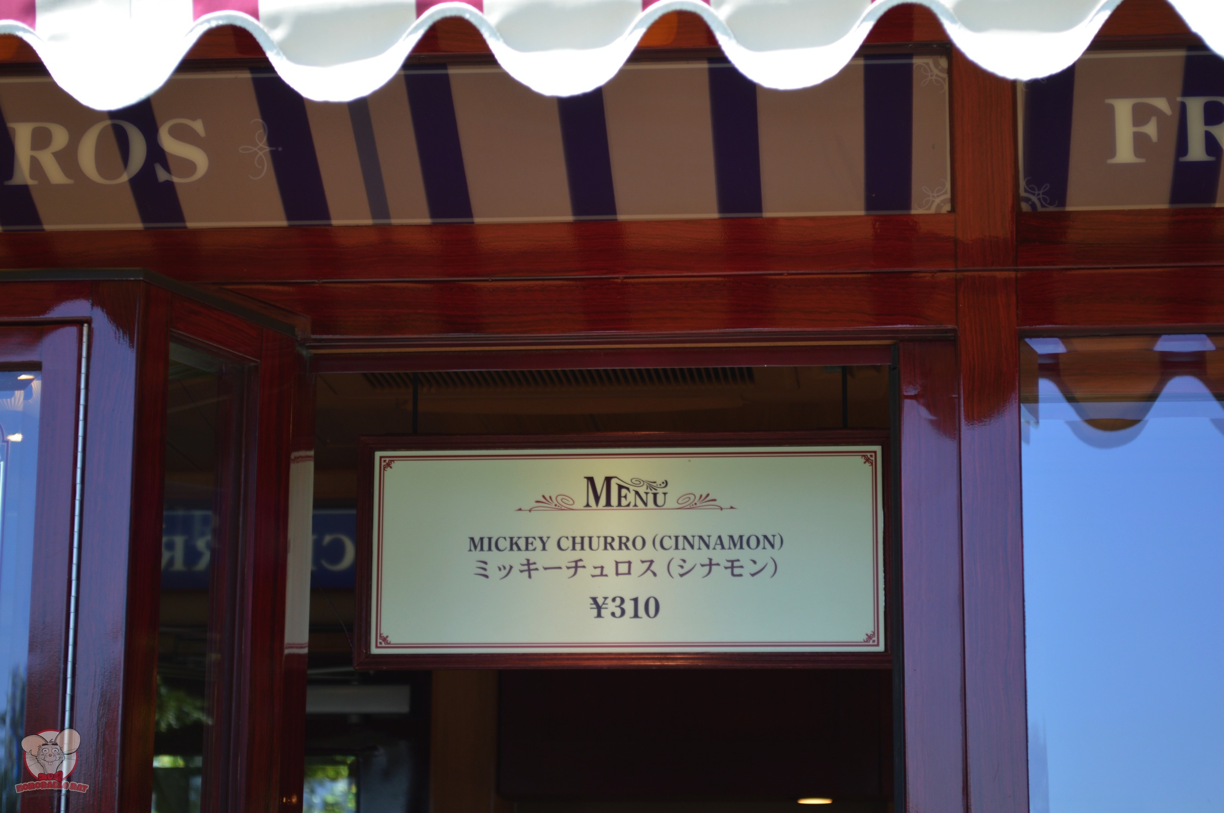 Mickey Churro (Cinnamon) for 310 yen