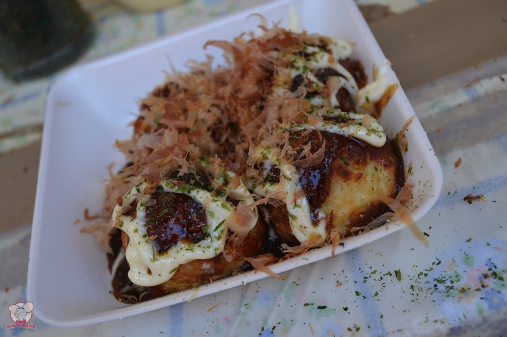 4 pieces of Takoyaki for 200 yen