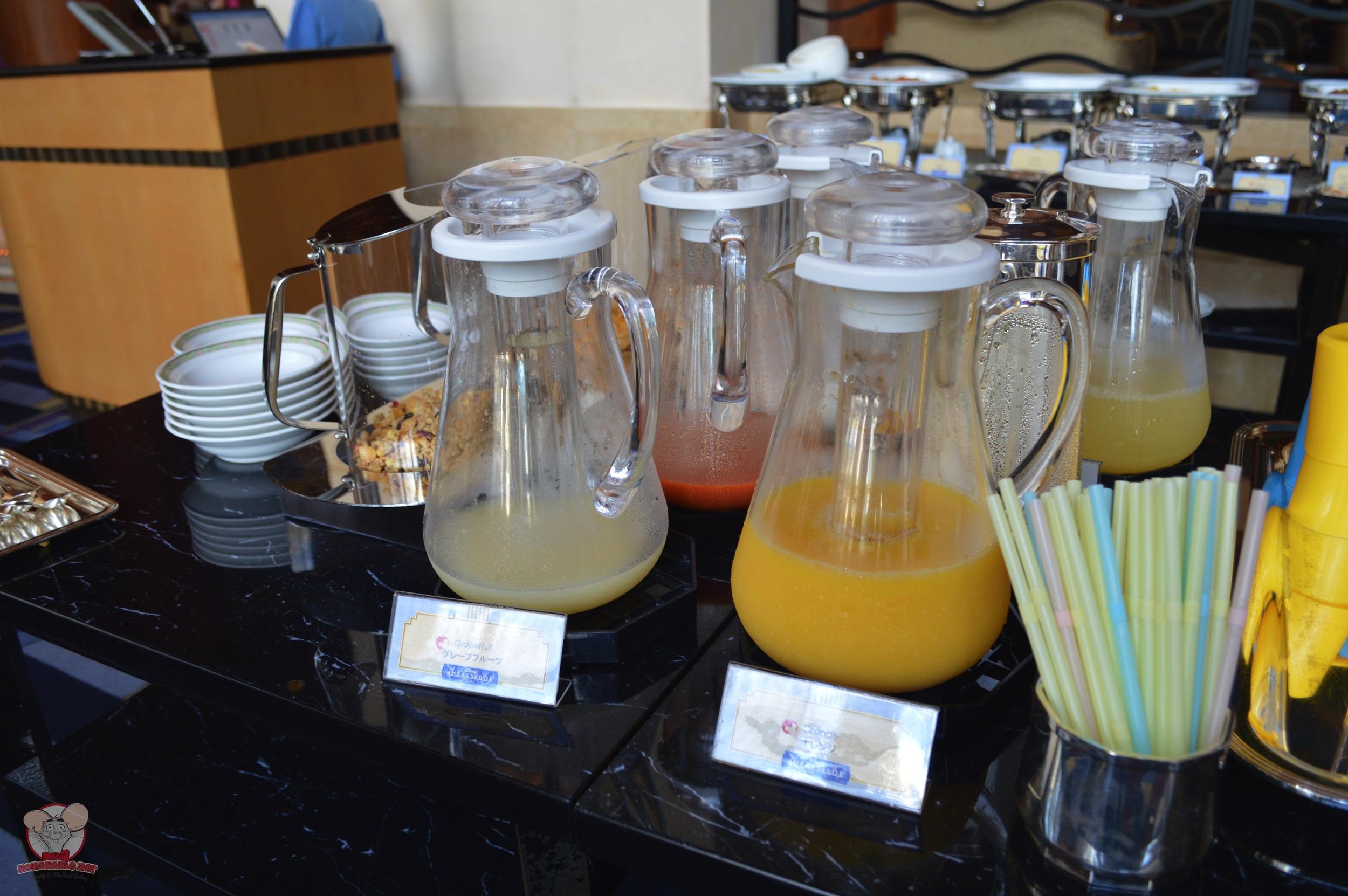 Grapefruit juice and orange juice