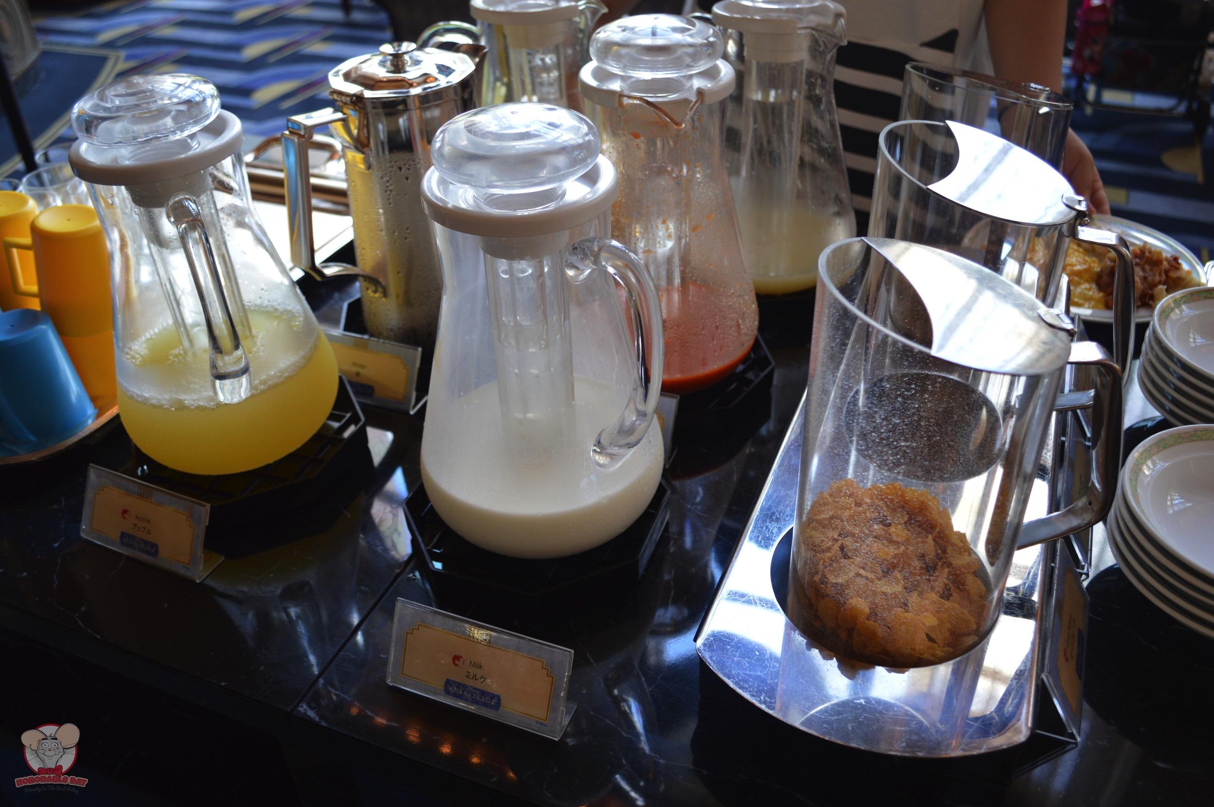 Apple juice and milk
