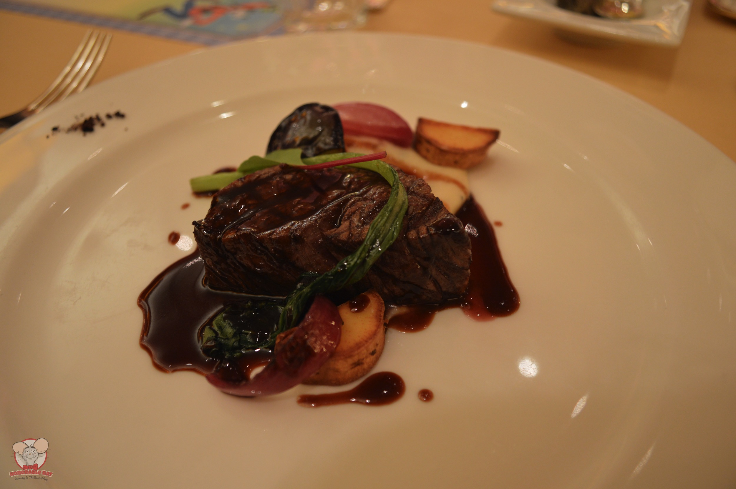 Grilled Beef Tenderloin with Cocoa-Red Wine-Sauce served with Truffled Mashed Potatoes