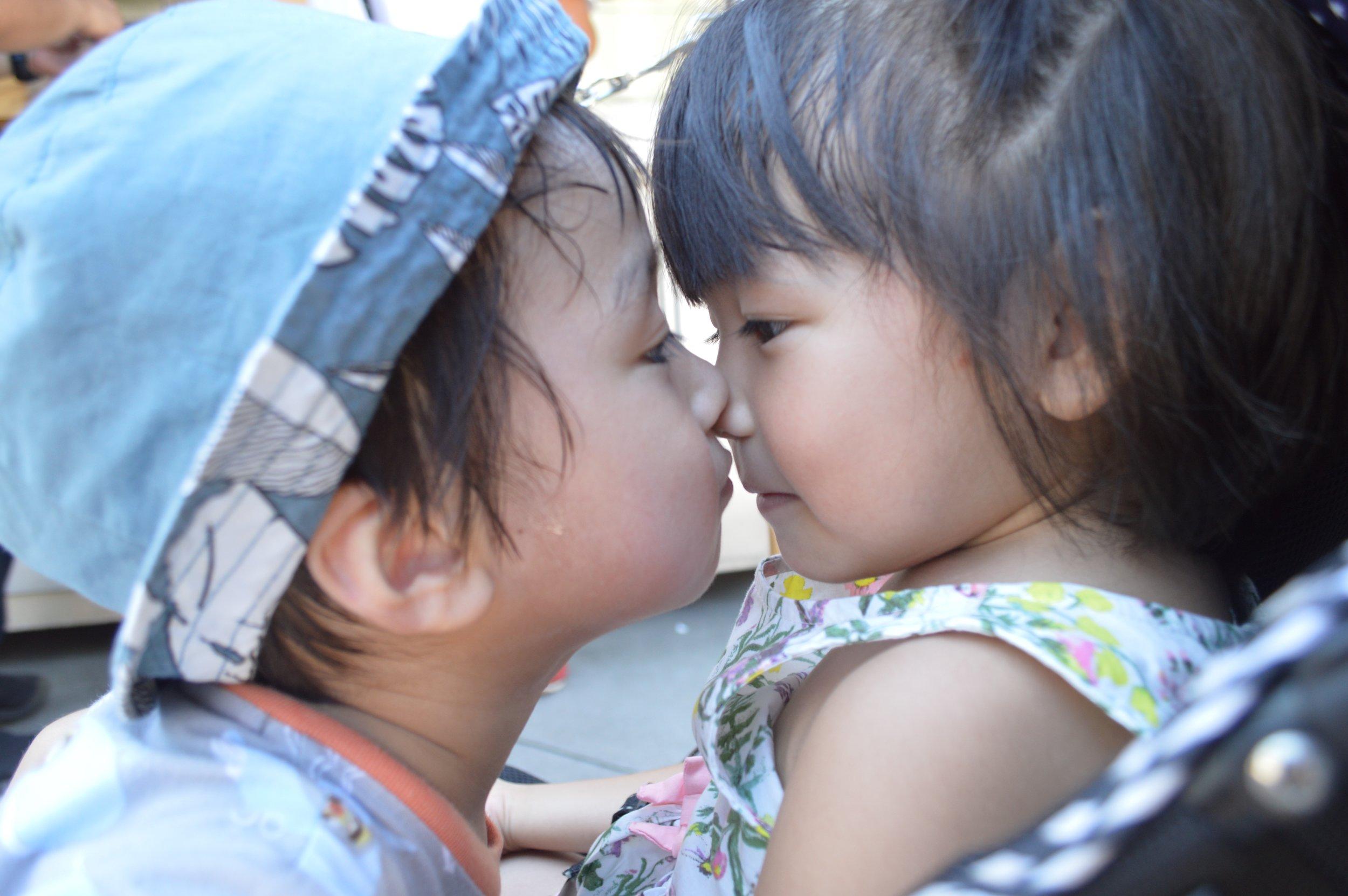 Little Mahina waking up to a prince's kiss