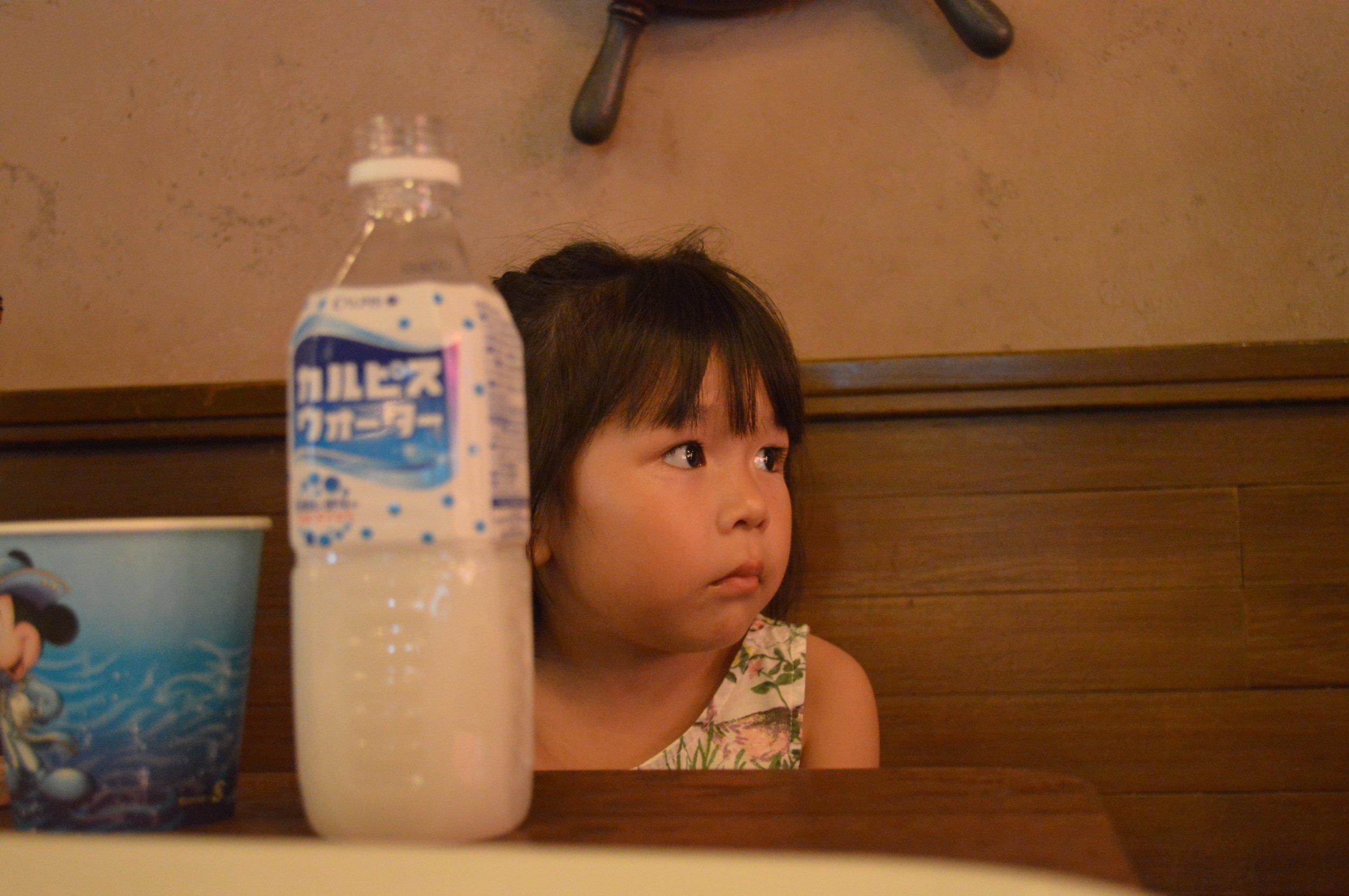 Little Mahina fixated on the show