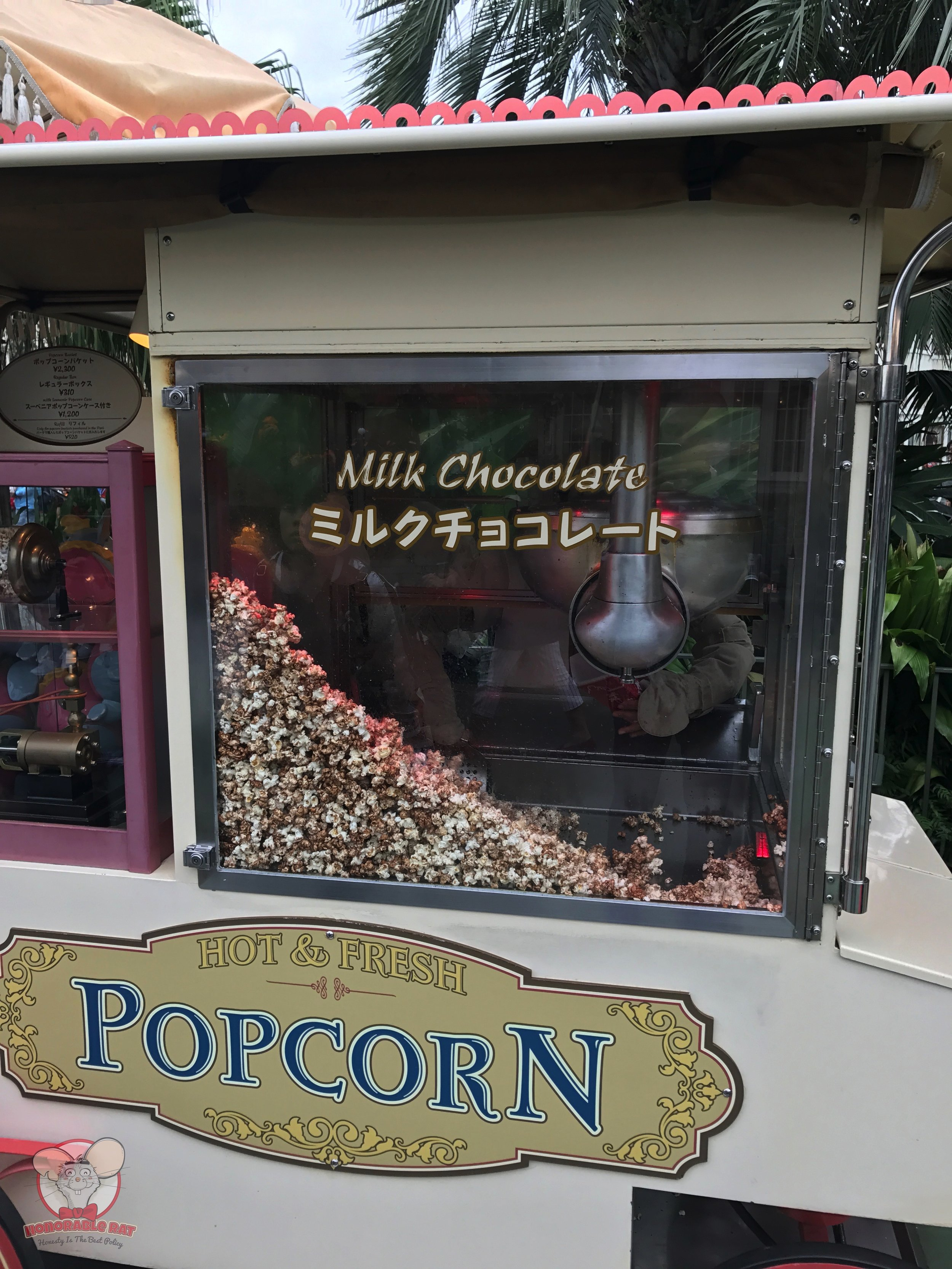 Milk Chocolate popcorn cart