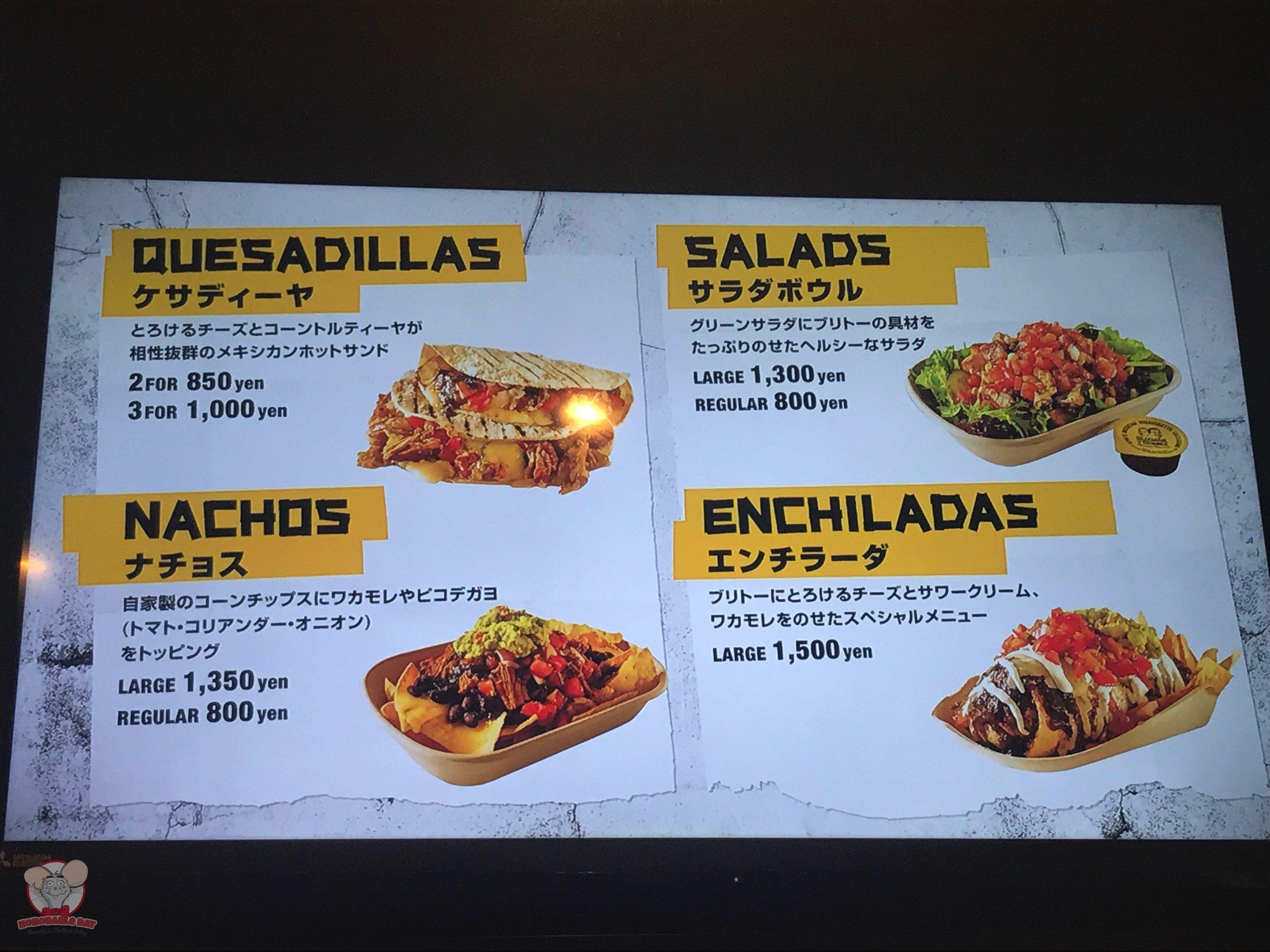 Quesadillas, Nachos, Salads or Enchiladas?