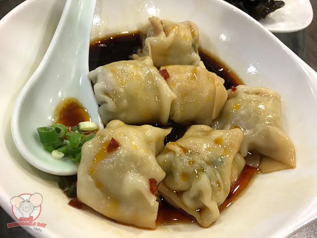 Pork Dumplings with Red Hot Chili Vinaigrette