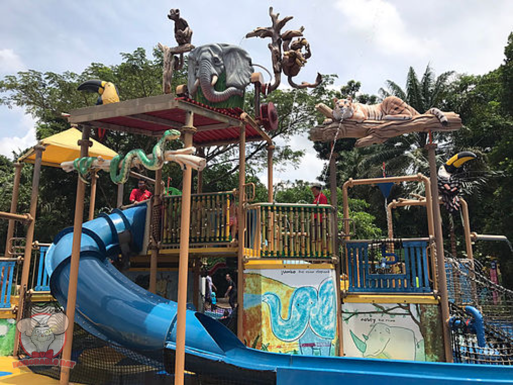 The water play area in Rainforest Kidzworld