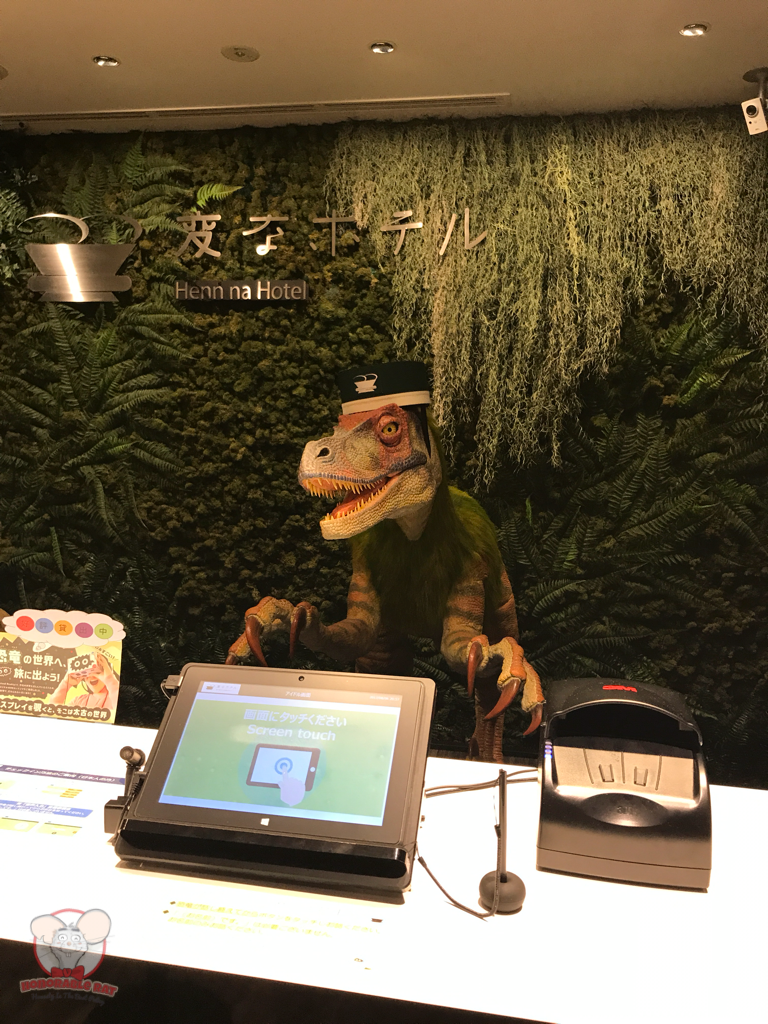 Closer look at the Front Desk Velociraptor