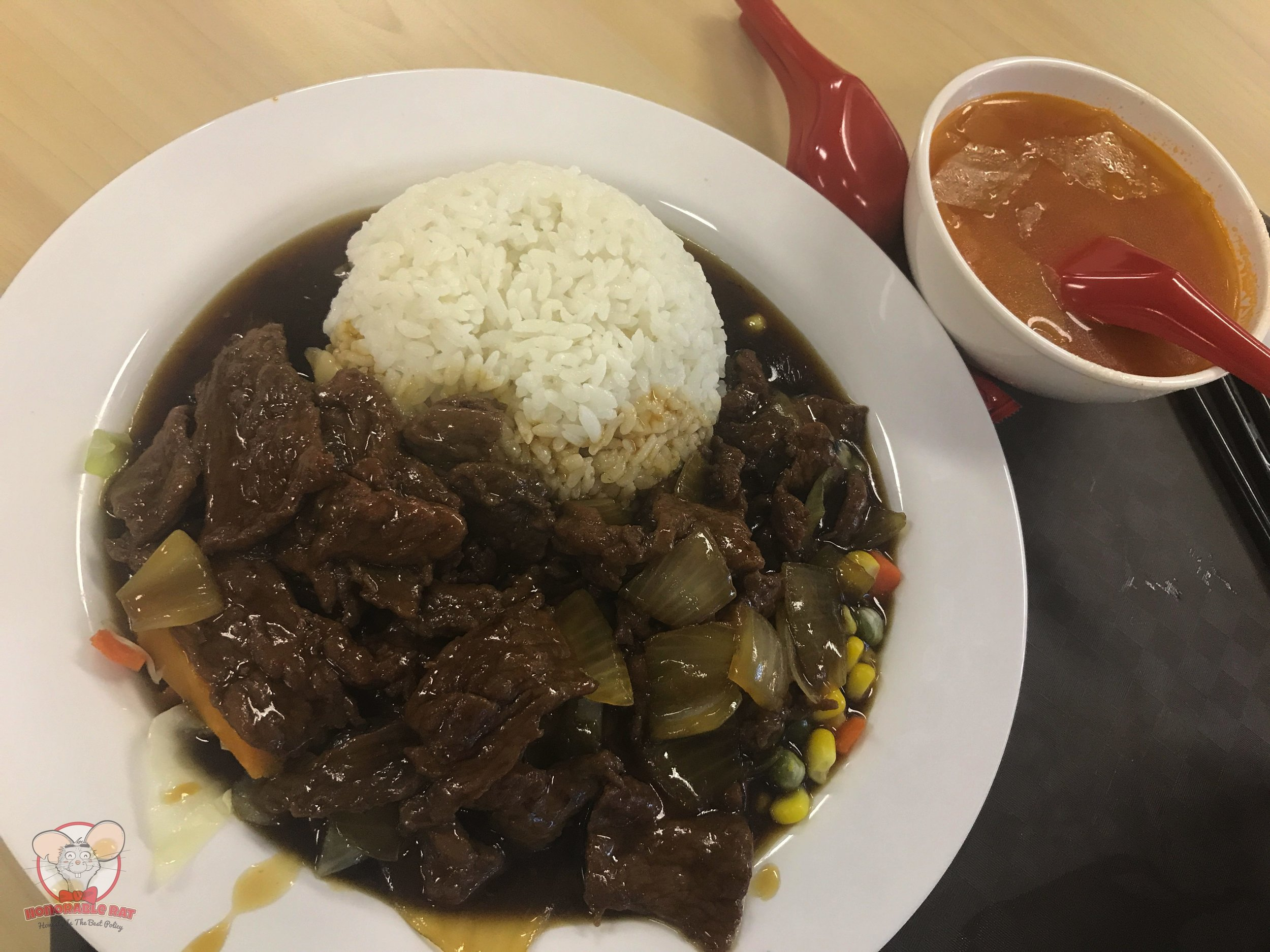 Beef in Oyster Sauce with Rice