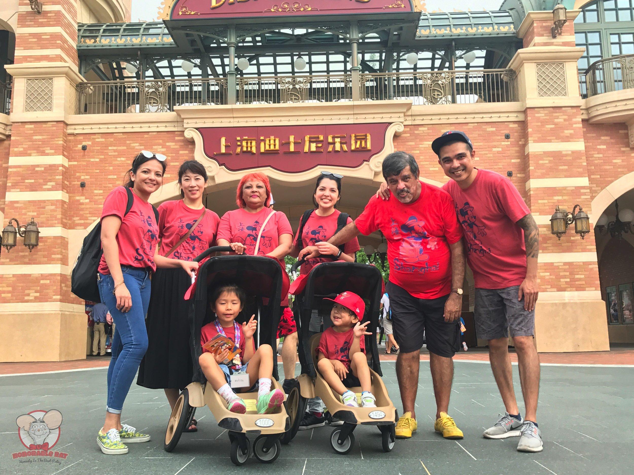 The Rat family in Shanghai Disneyland
