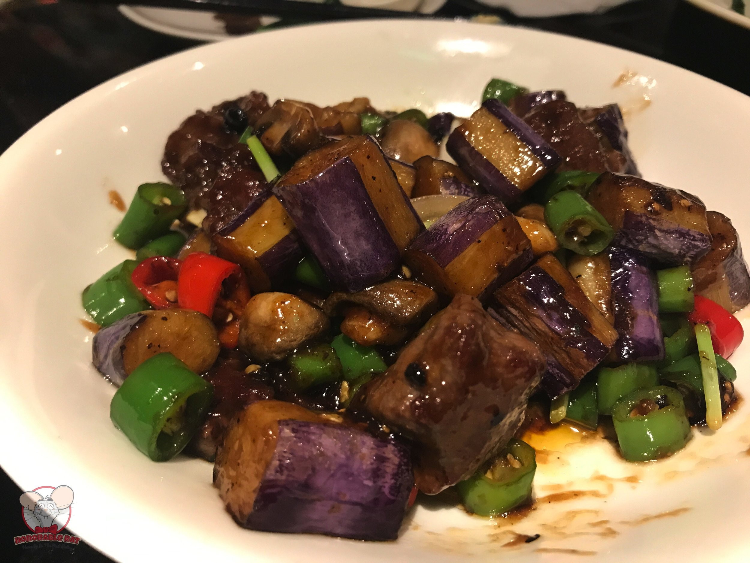 Sauteed Beef Dices with Eggplant & Chili: 68 Chinese Yuan