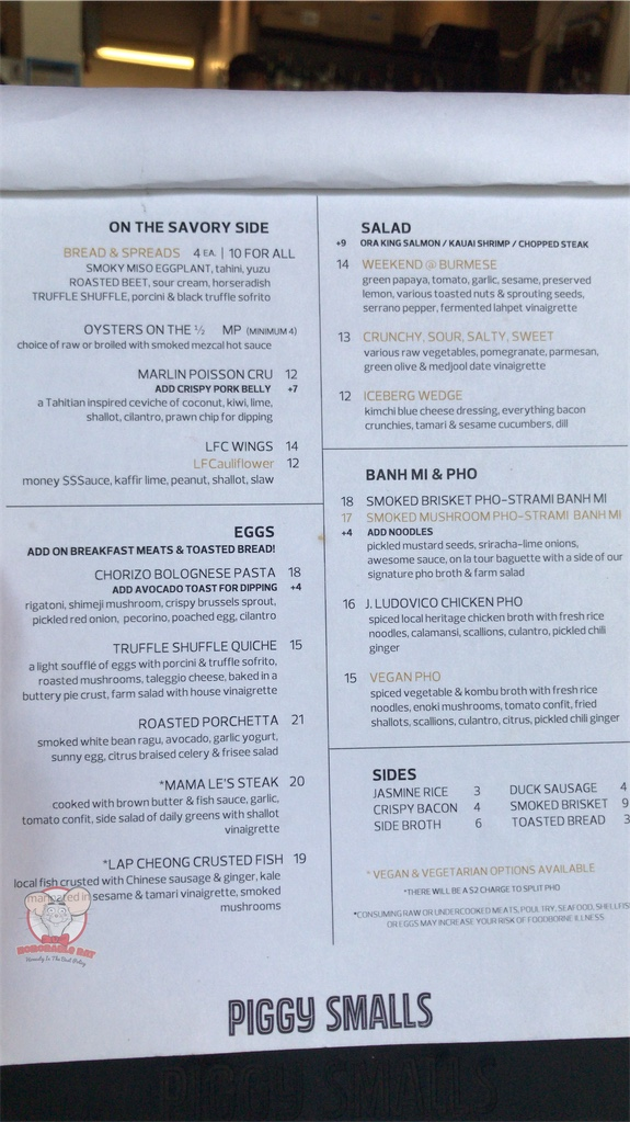 Brunch Menu Page 2