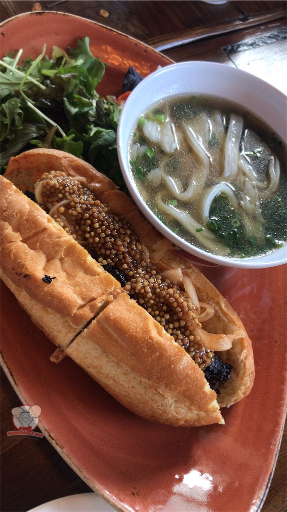 Smoked Brisket Pho-Strami Banh Mi With Noodles