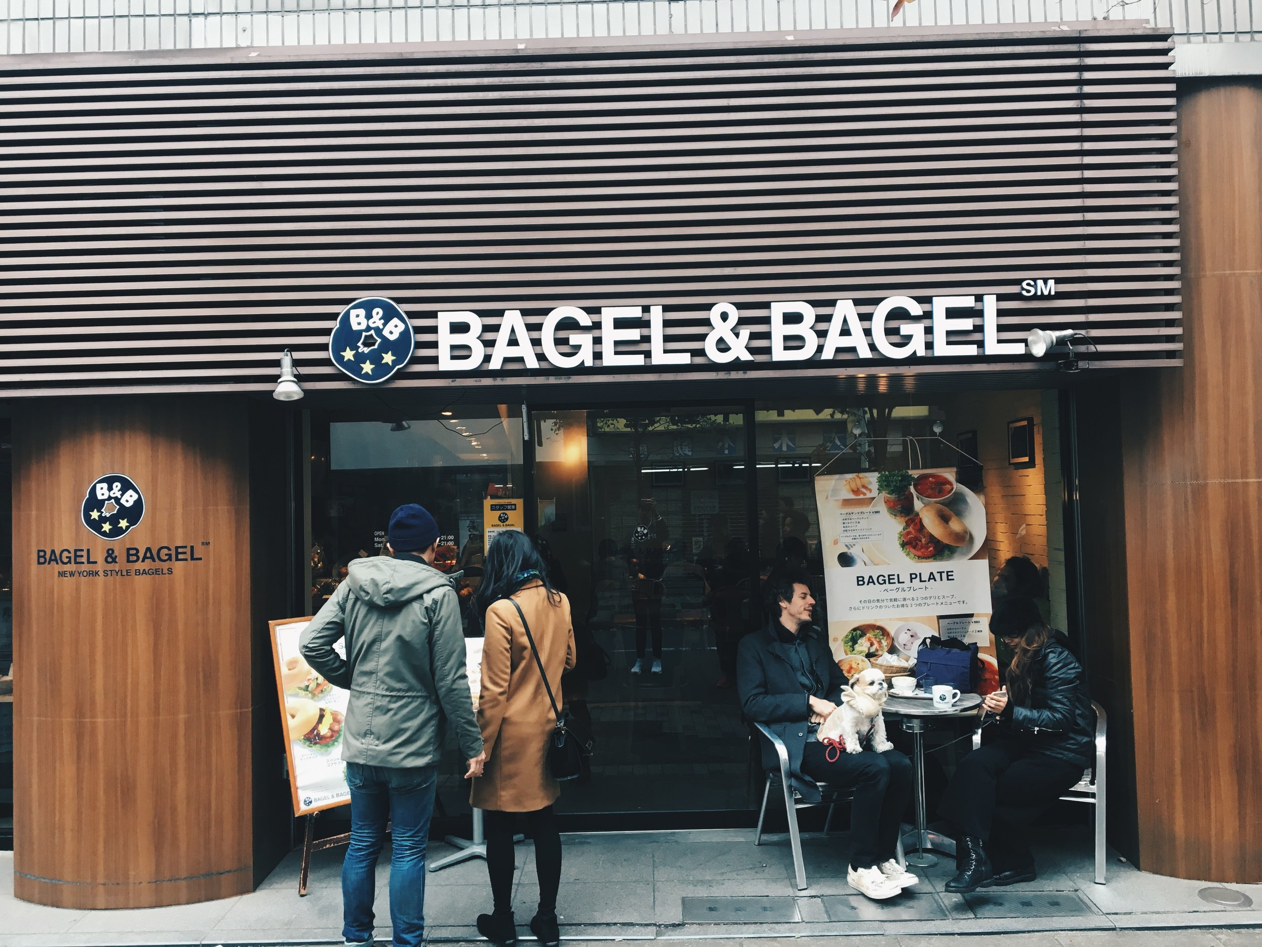 Bagel and bagel joint.
