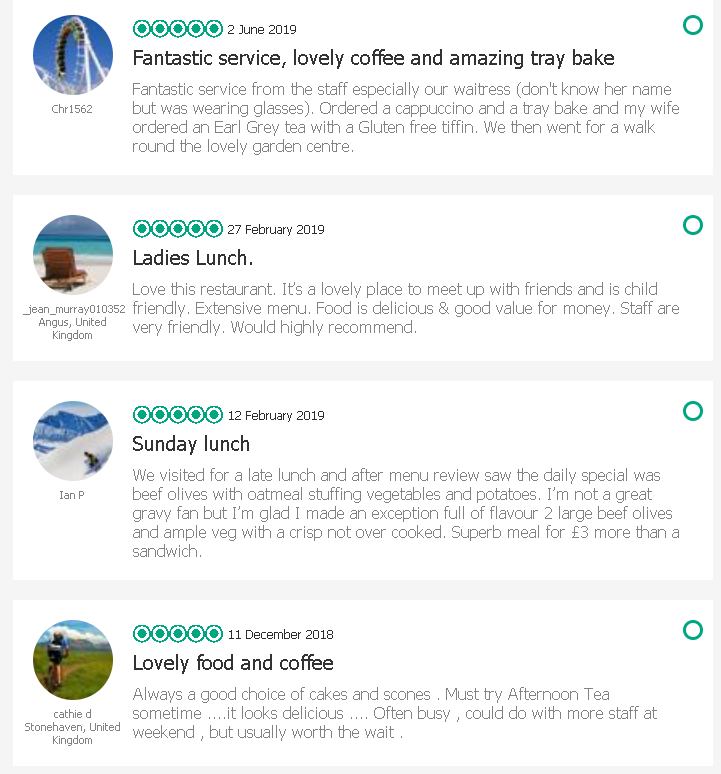 We love great customers. - If you are happy with our service we'd love to hear from you too.