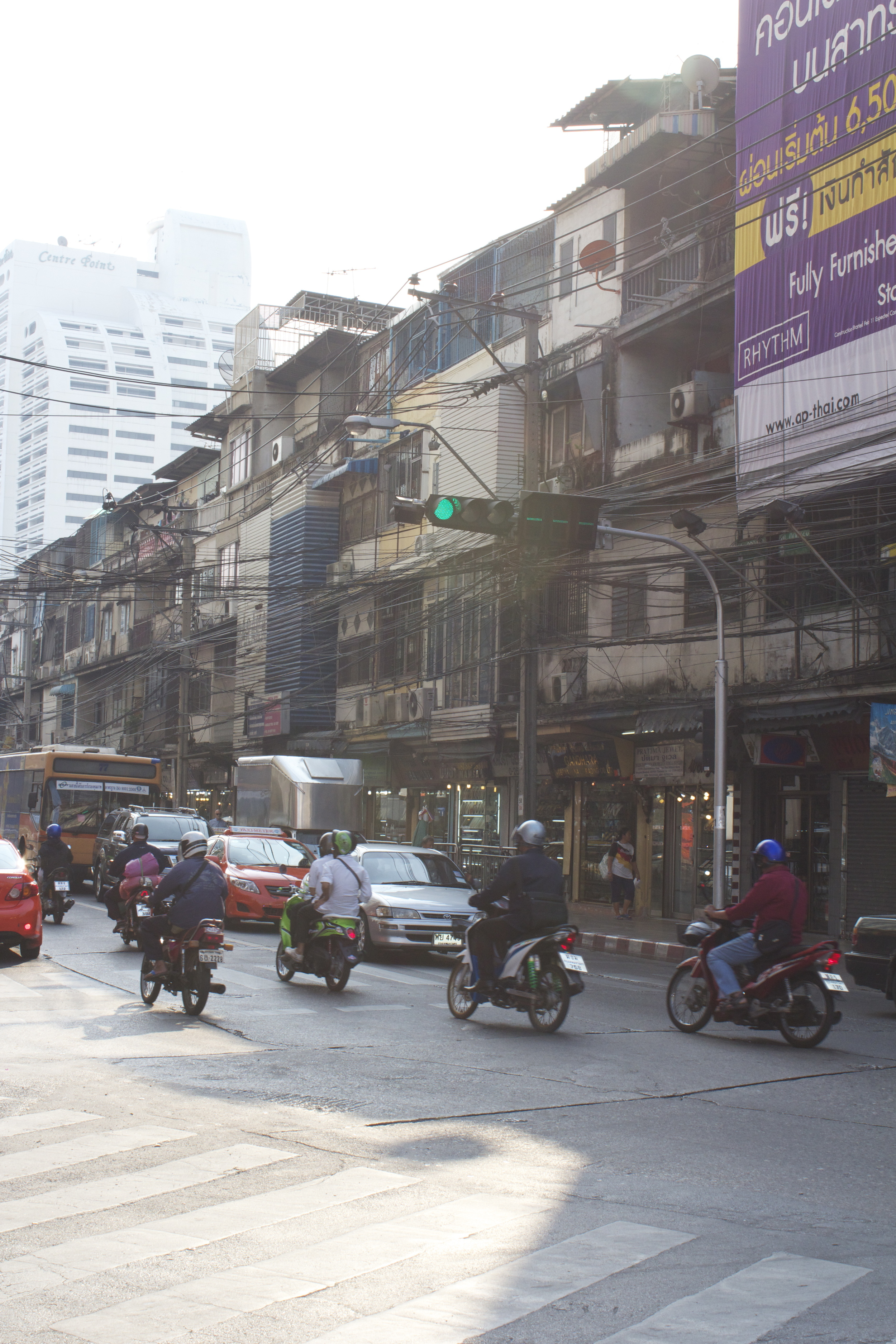 The real Bangkok, just one street away from the hotel!