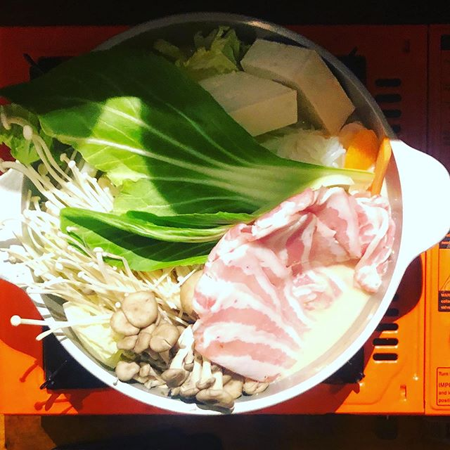Japanese hotpot and oodles of noodles with two of my fave fellas. Also, pillowy, pot-sticky gyozas for days ... #birthdaydinner #japanese #hotpot #