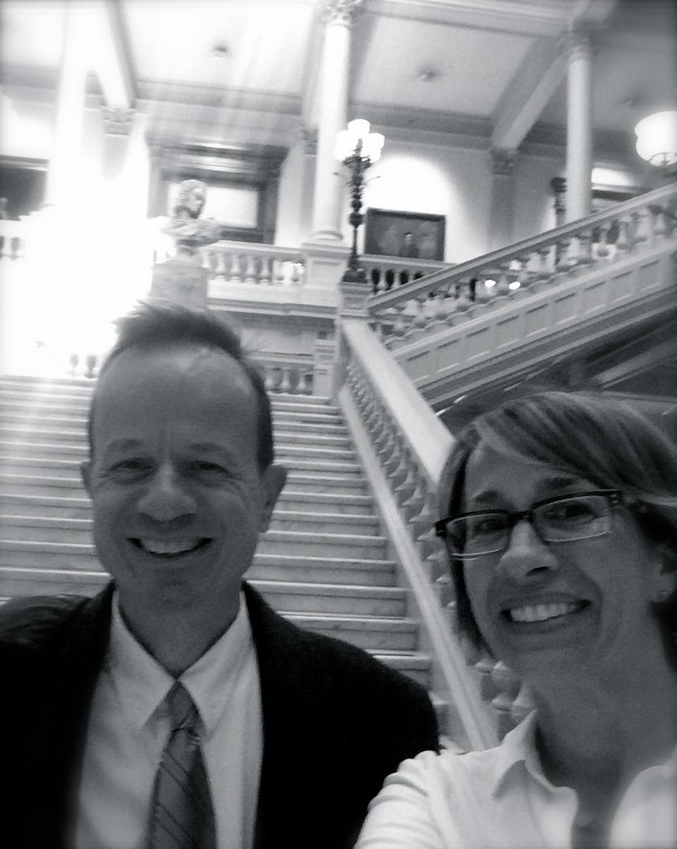 Bill and Sarah at Georgia State Capital